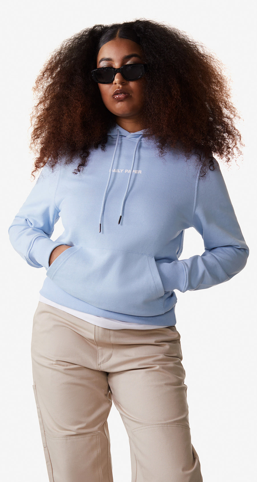 Daily Paper - Chambray Blue Remulti Hoody - Women Rear