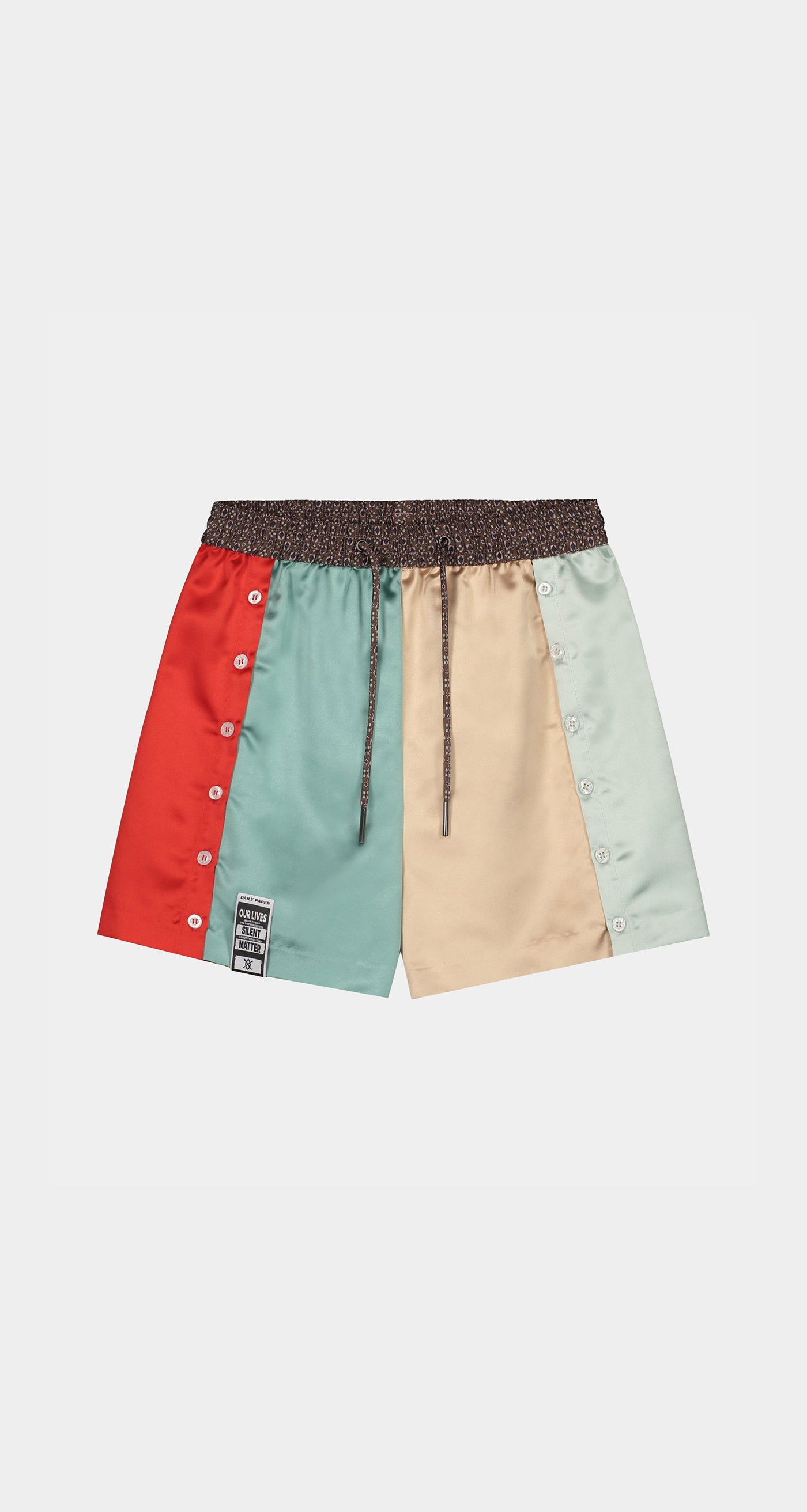 Daily Paper - Champagne Red Kacela Shorts - Women Front