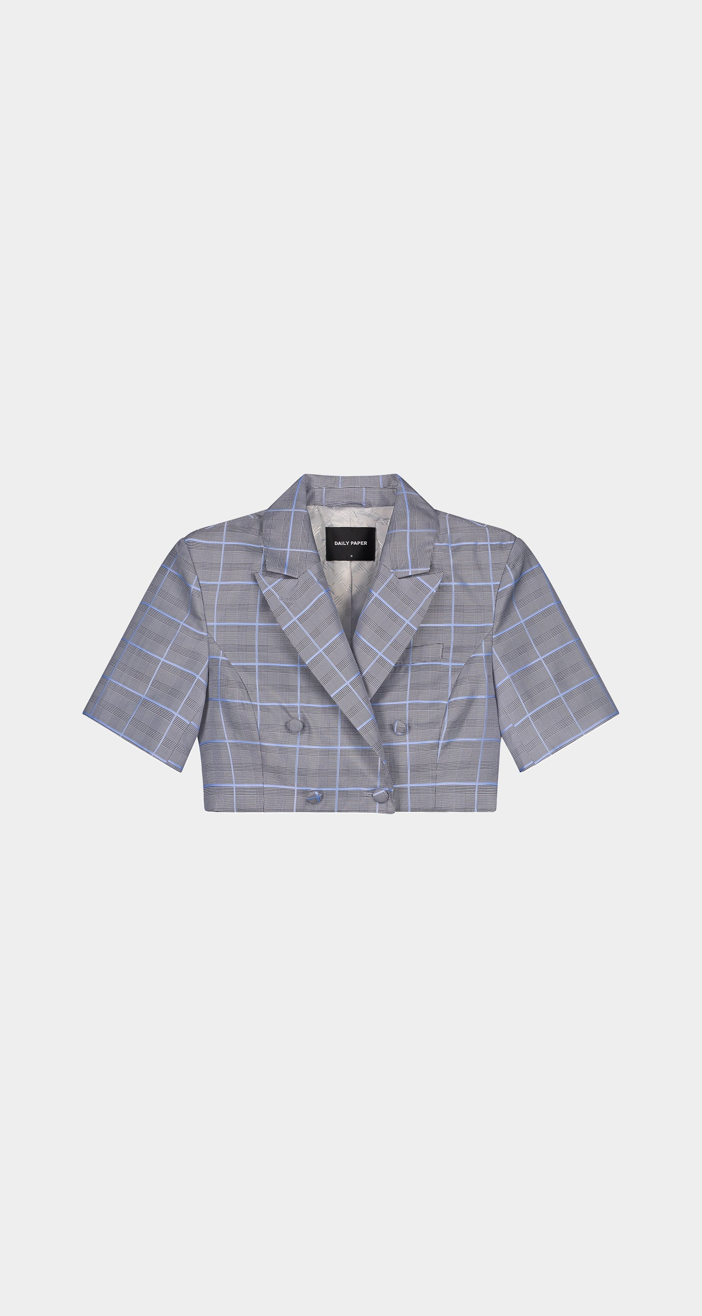 Daily Paper - Light Blue Checked Kalena Blazer - Women Front