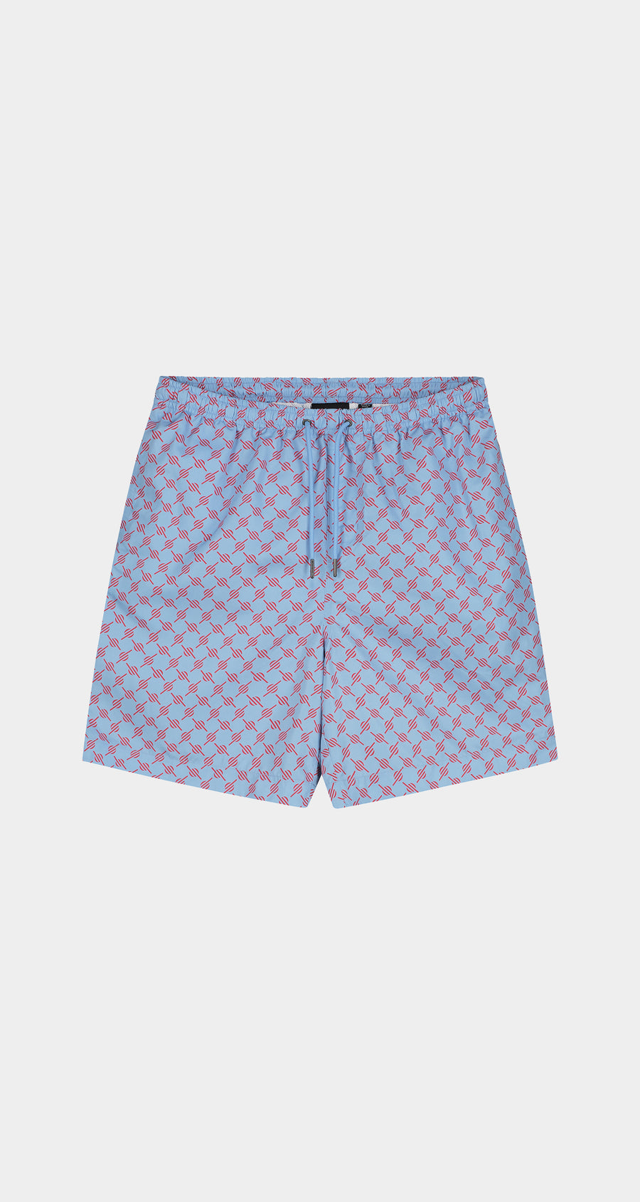 Daily Paper - Blue Red Monogram Kali Shorts - Men Front