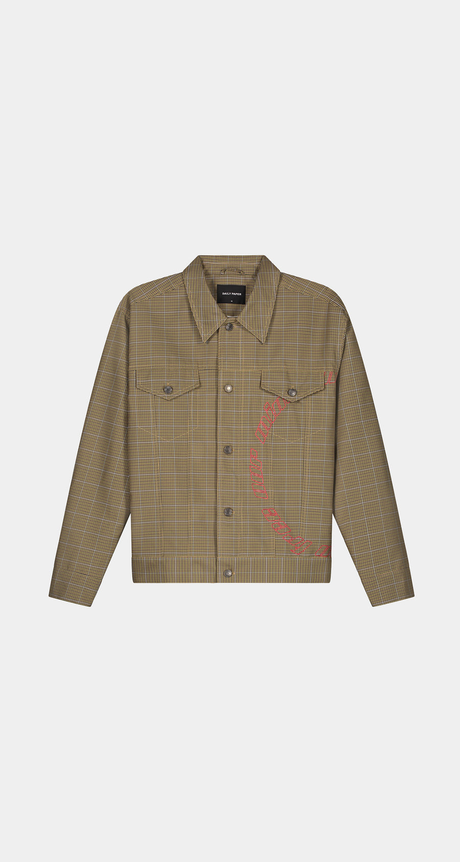 Daily Paper - Sand Checked Kardy Jacket - Men Front