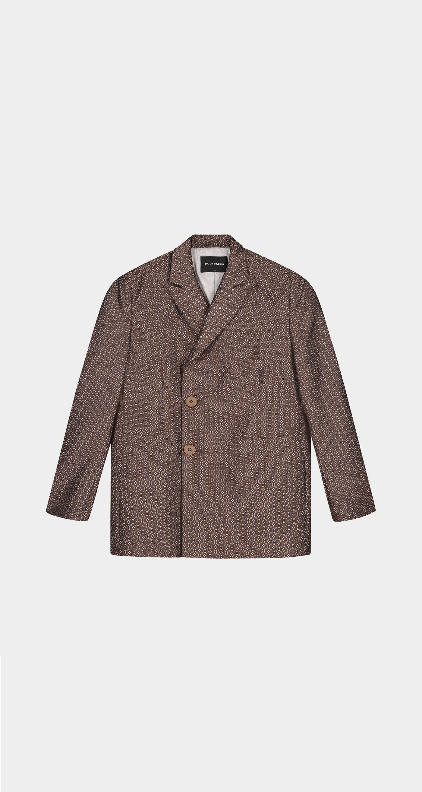 Daily Paper - Brown Kayson Blazer - Men Front