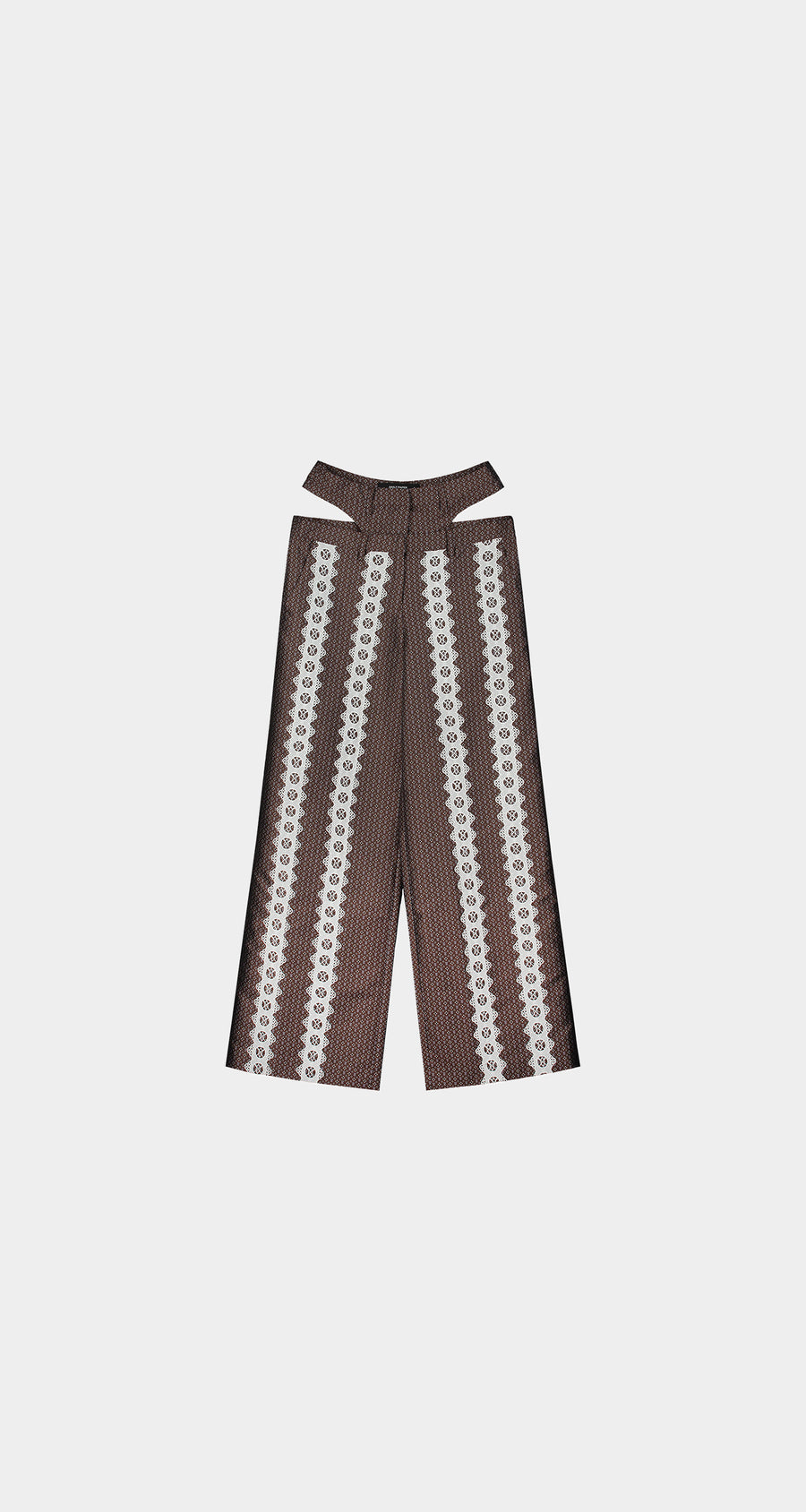 Daily Paper - Brown White Kehaan Pants - Women Front
