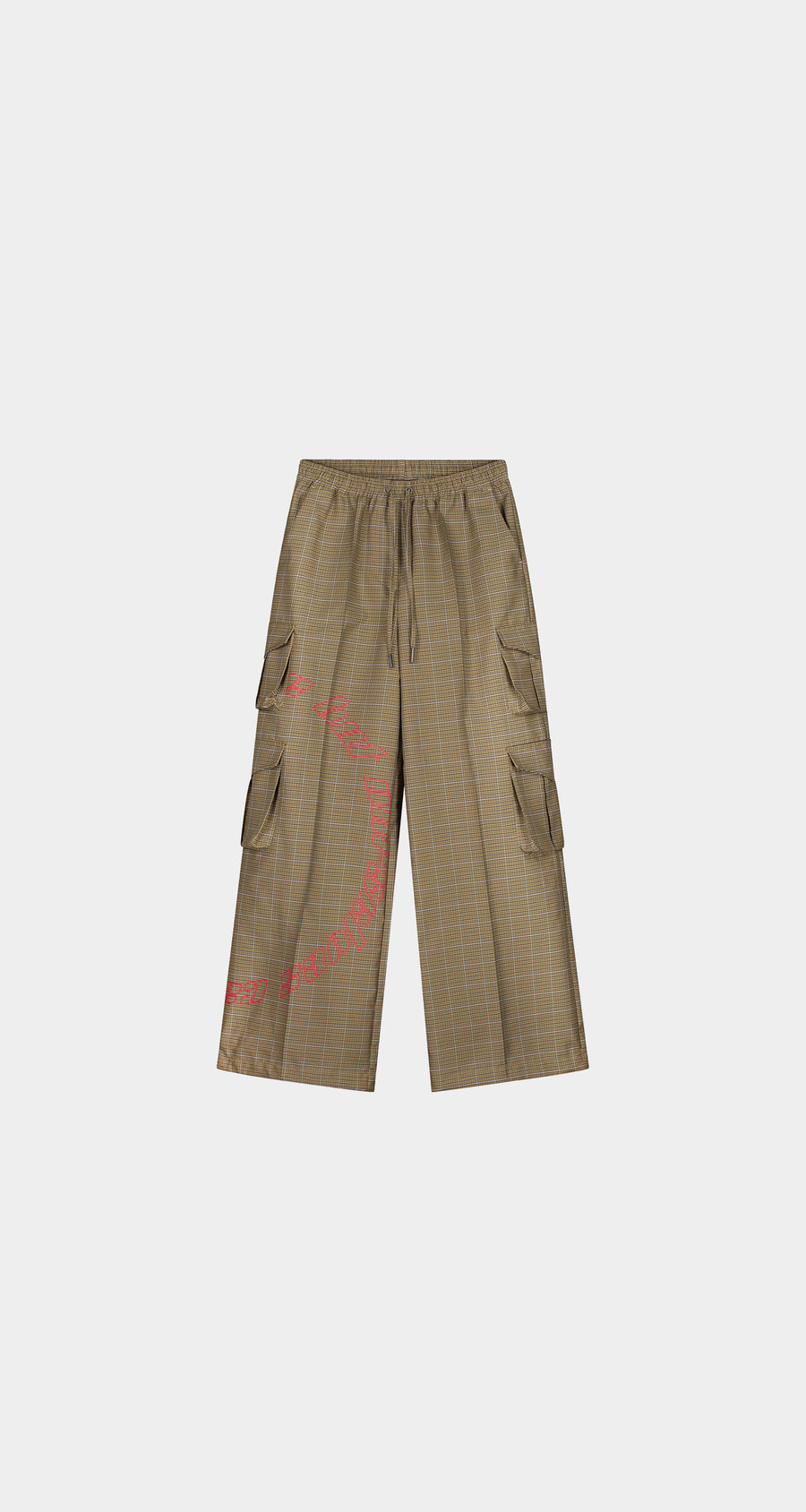 Daily Paper - Sand Checked Kensine Pants - Women Front