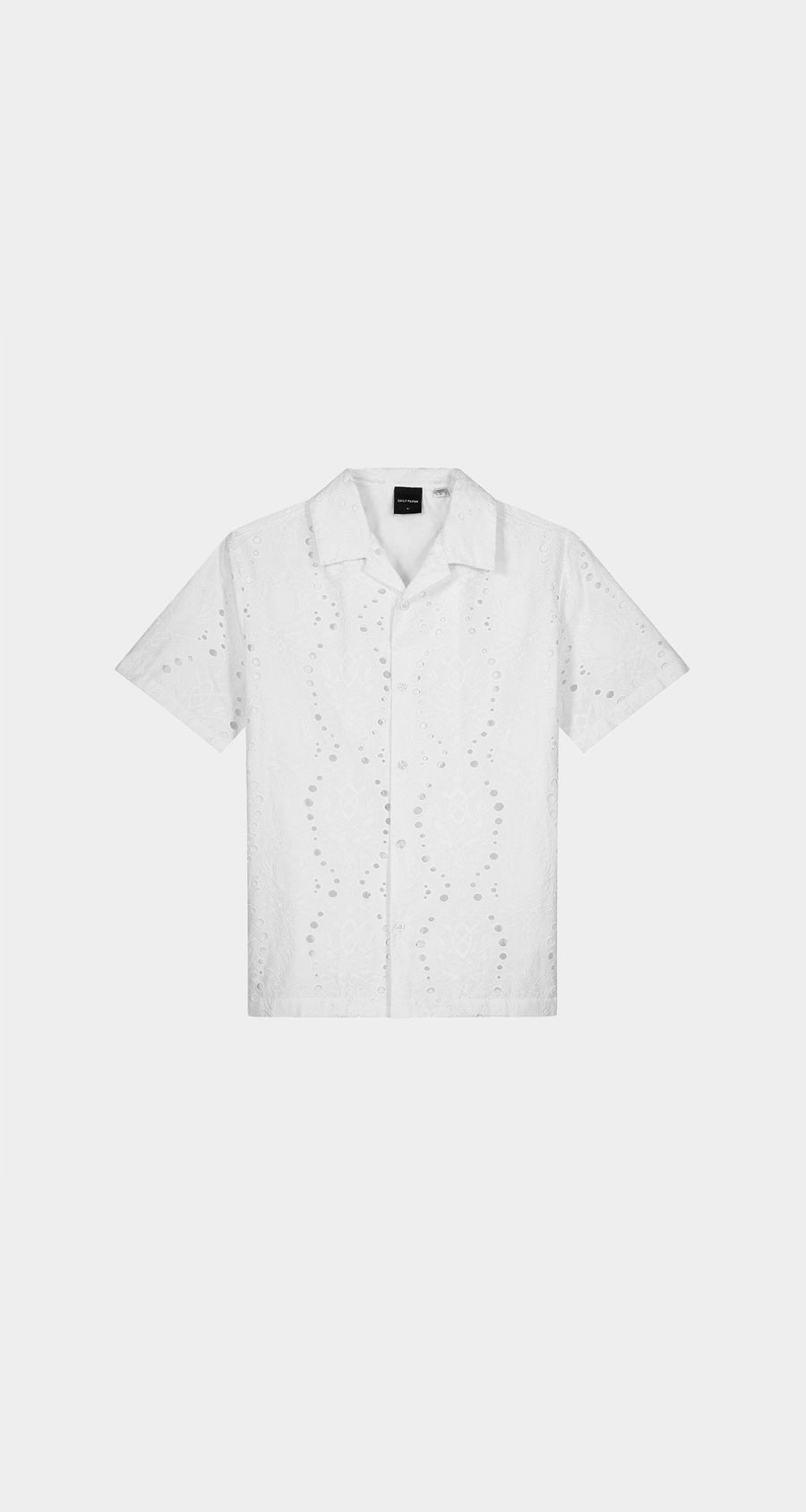 Daily Paper - White Kovan Lace Shirt - Men Front