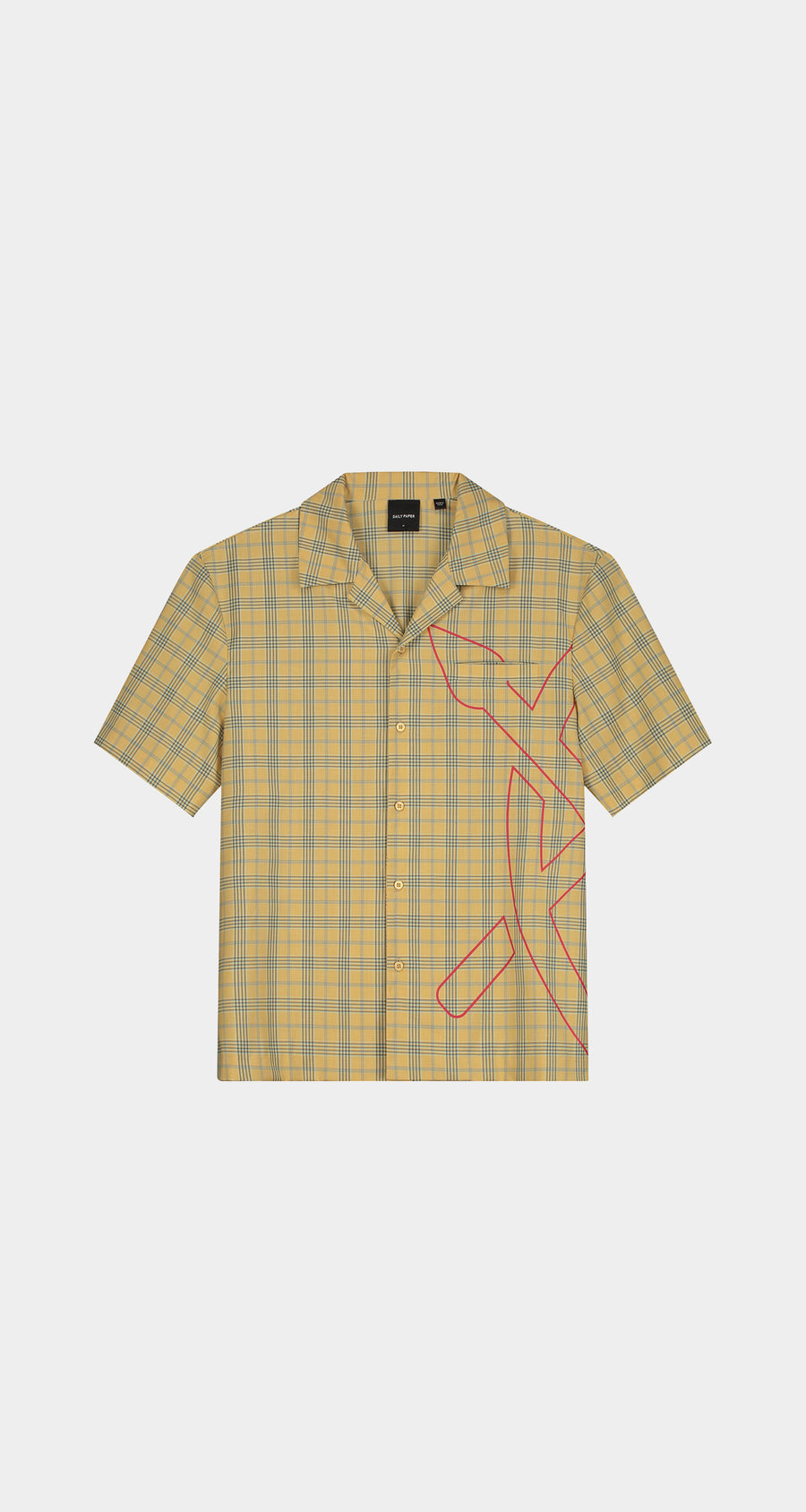 Daily Paper - Yellow Checked Kovan Shirt - Men Front