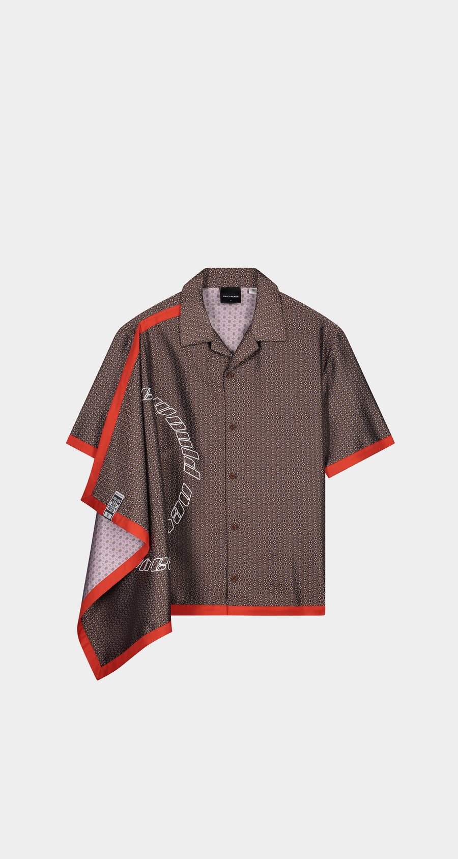 Daily Paper - Brown Kovan Scarf Shirt - Men Front
