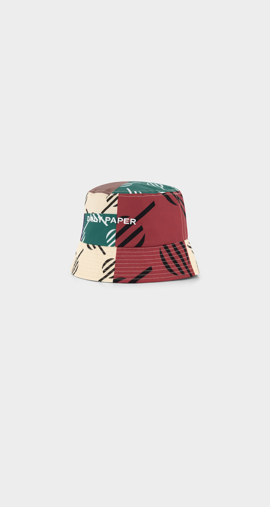 Daily Paper - Multi Coloured Repatch Bucket Hat - Front