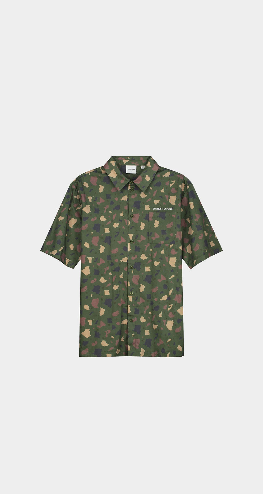 Daily Paper - Green Camo Recomo Shirt - Men Front