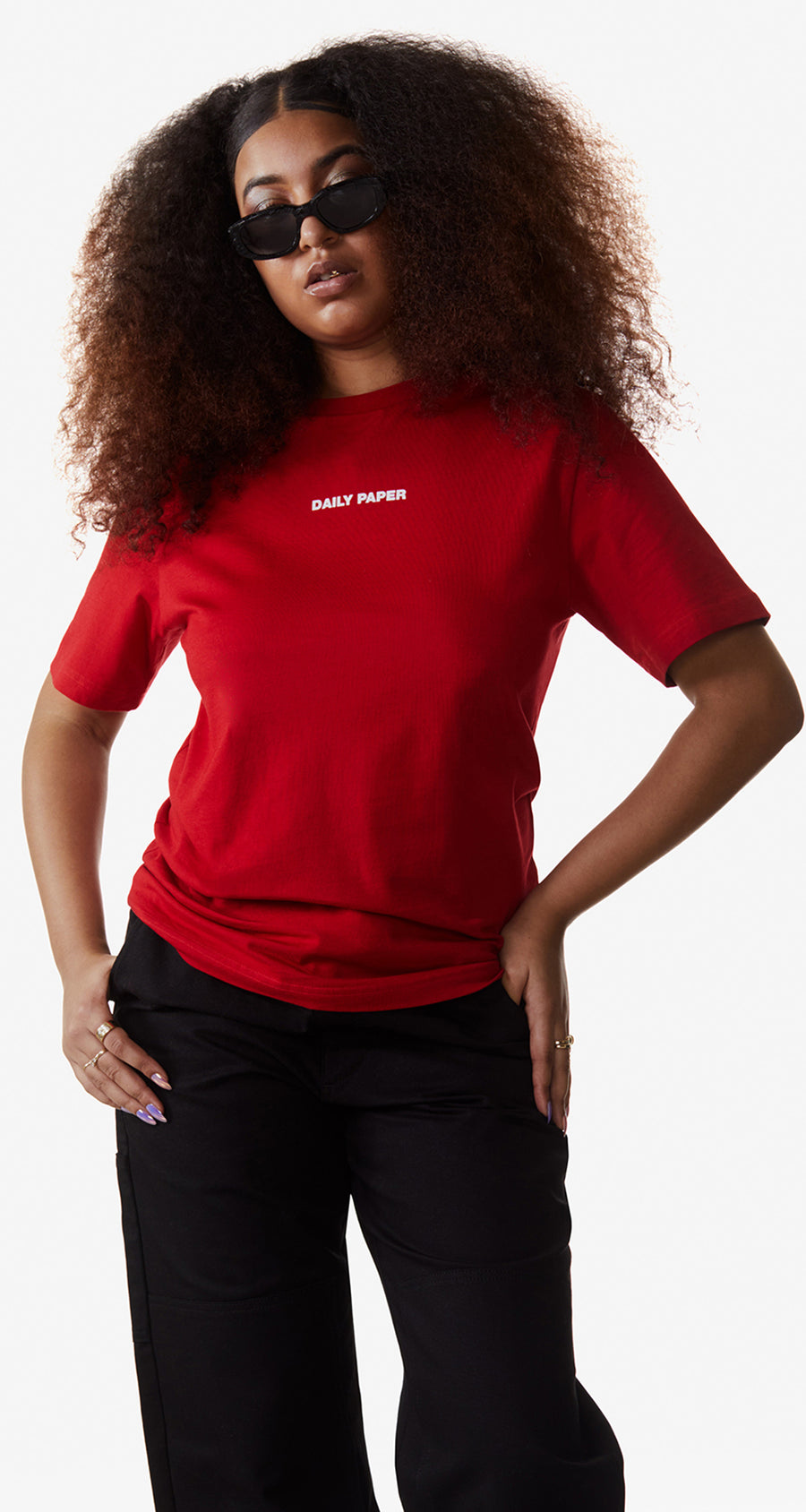 Daily Paper - Haute Red Remulti T-Shirt - Women Rear