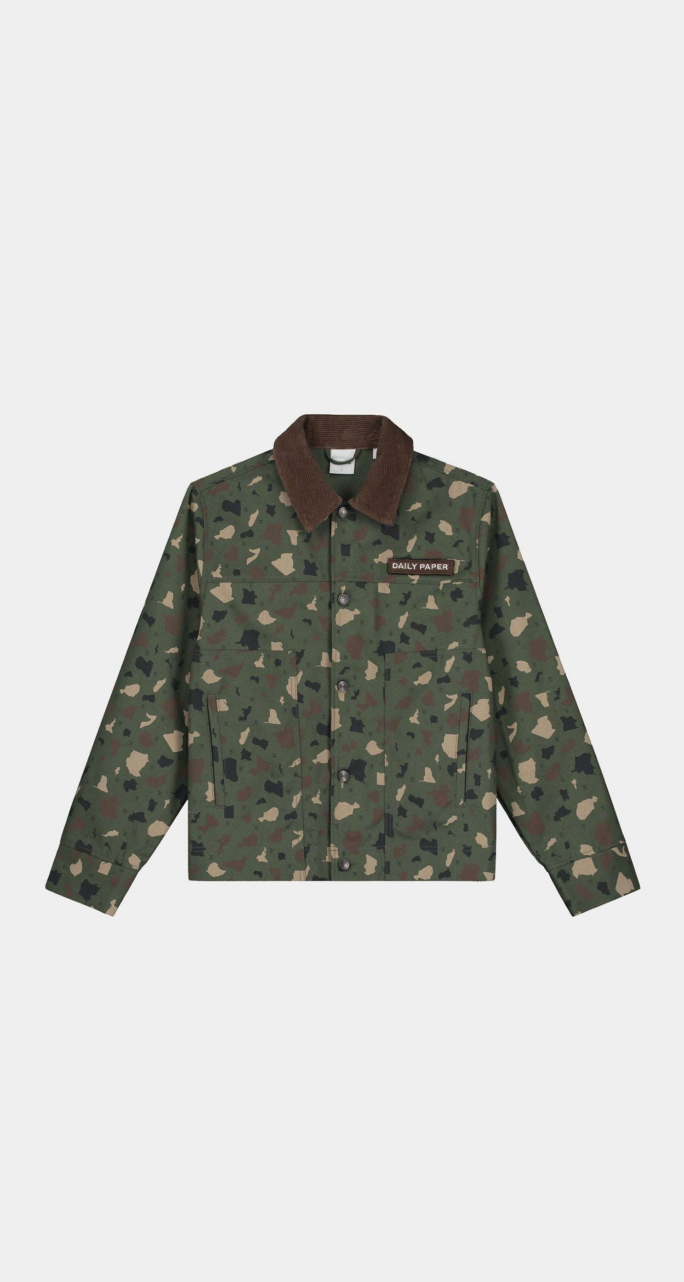 Daily Paper - Green Camo Recomo Coach Jacket - Women Front