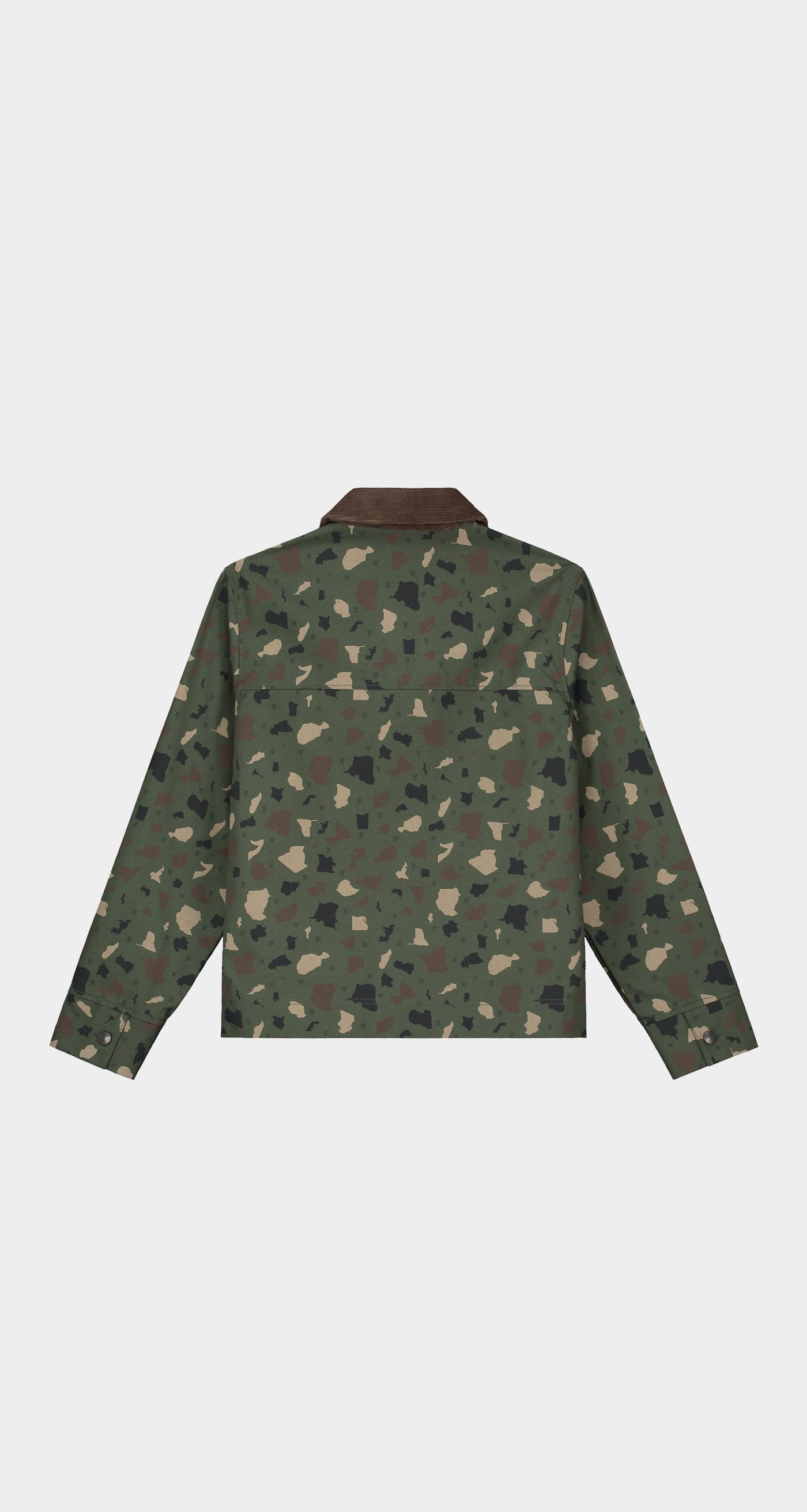 Daily Paper - Green Camo Recomo Coach Jacket - Women