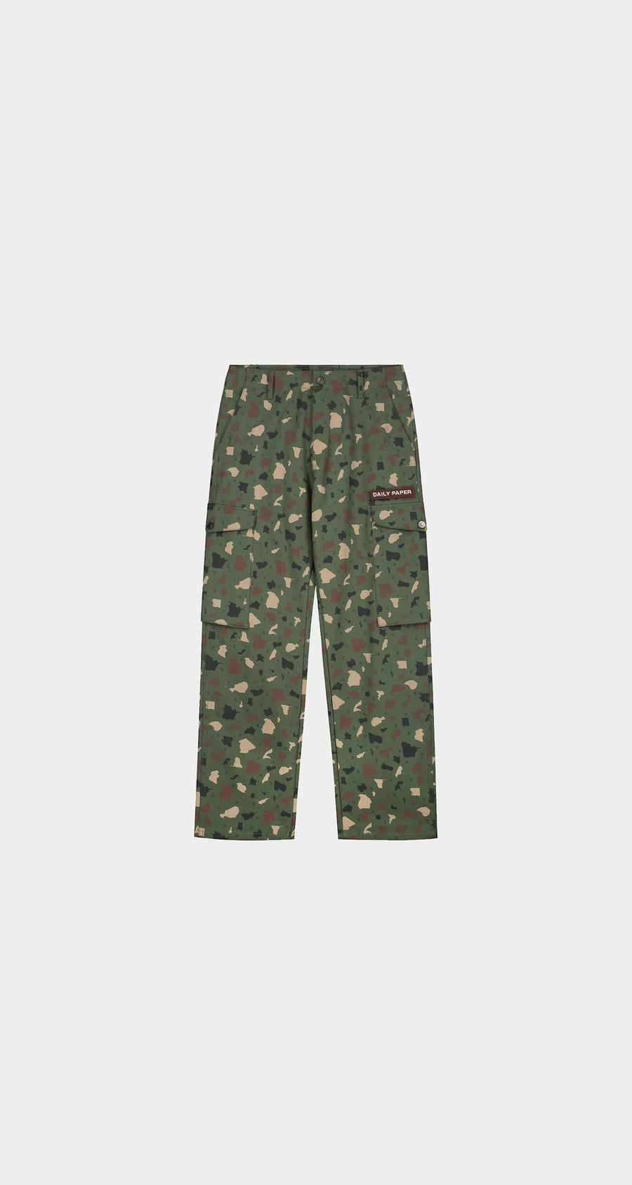 Daily Paper - Green Camo Recomo Cargo Pants - Men Front