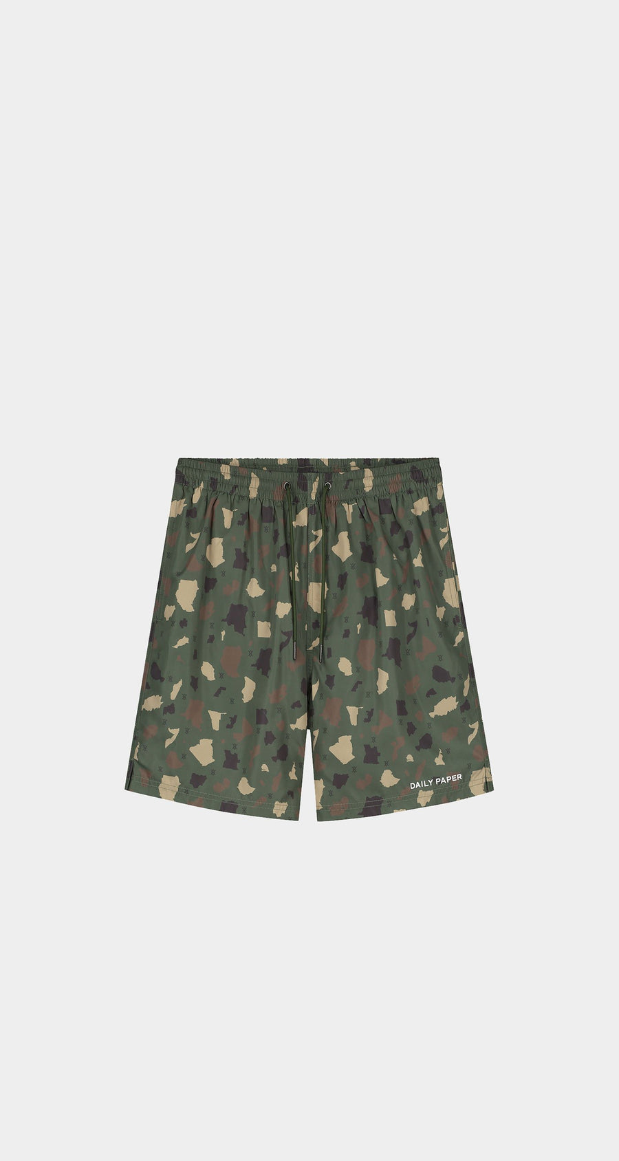 Daily Paper - Green Camo Recomo Swim Shorts - Men Front