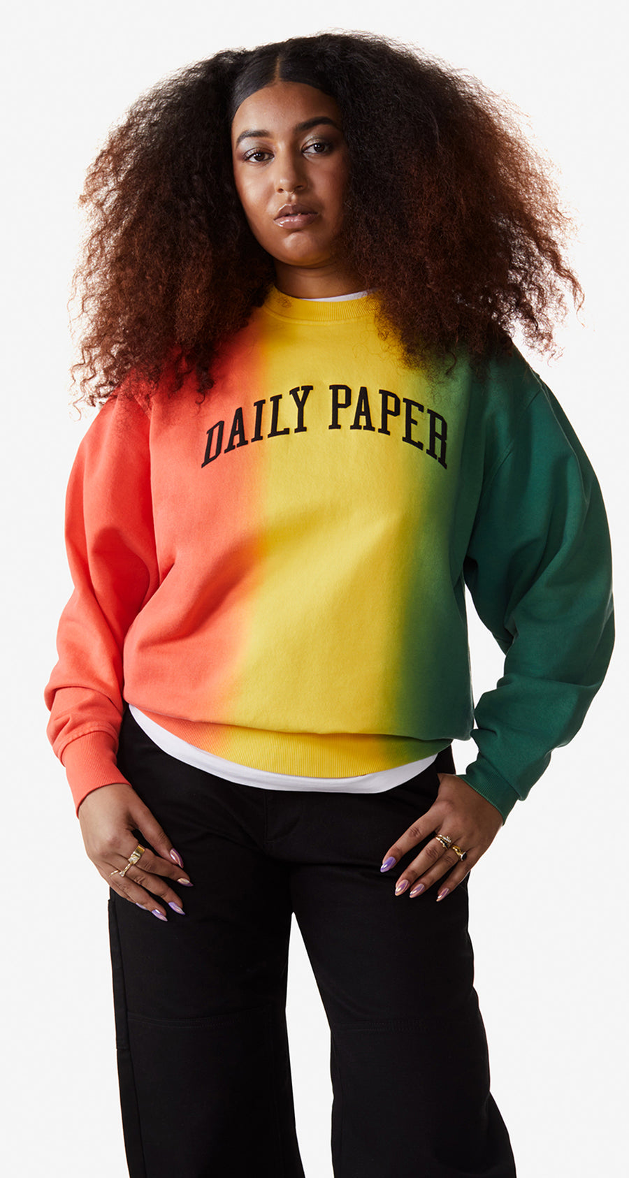 Daily Paper - Red Yellow Green Rebo Sweater - Women Rear