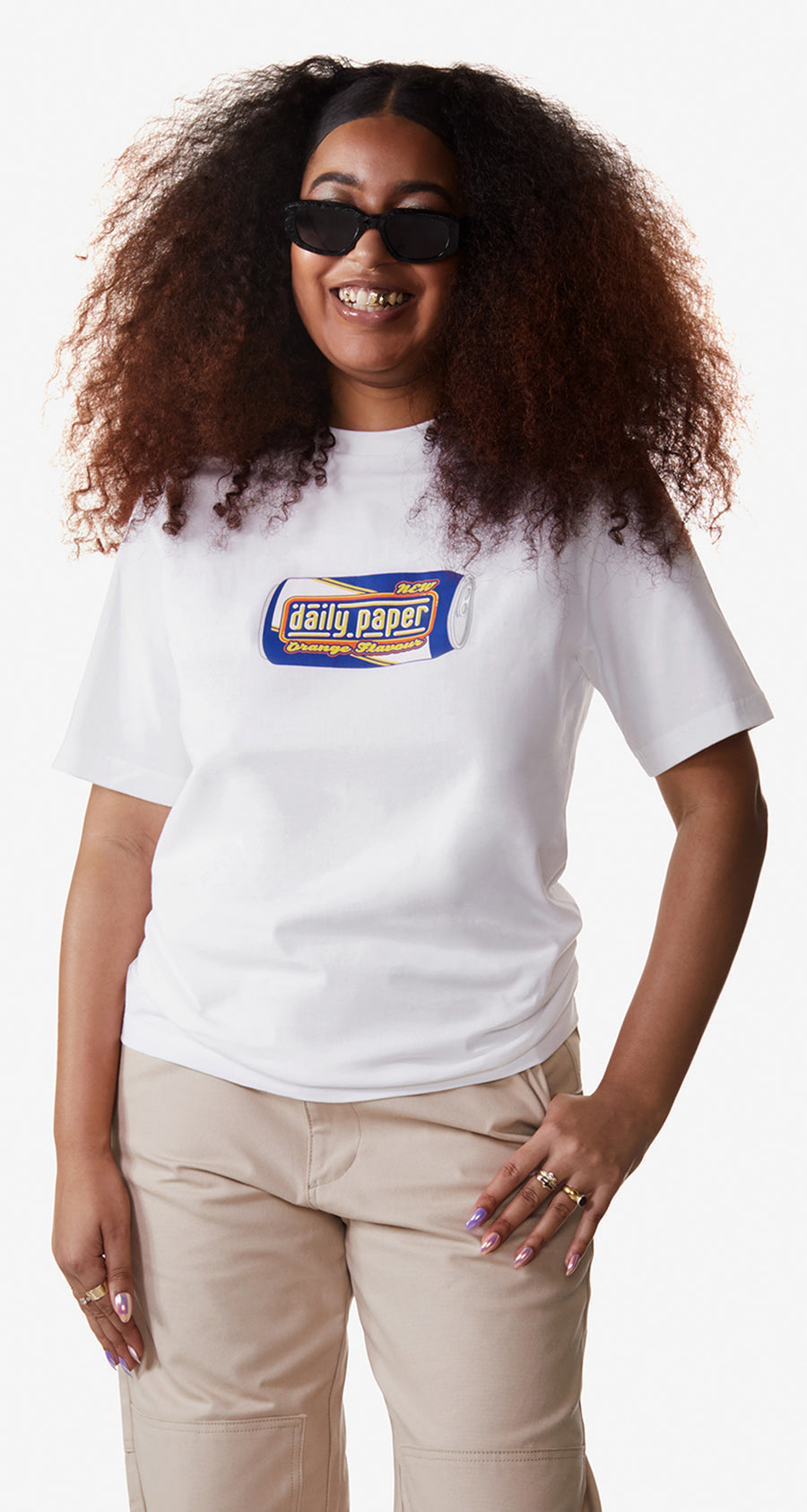 Daily Paper - White Recan T-Shirt - Women Rear