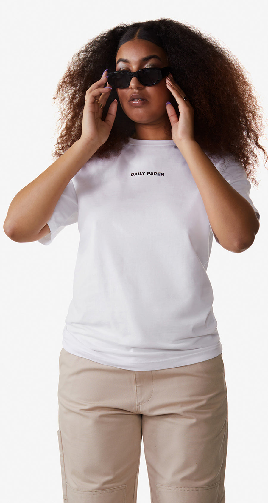 Daily Paper - White Remulti T-Shirt - Women Rear