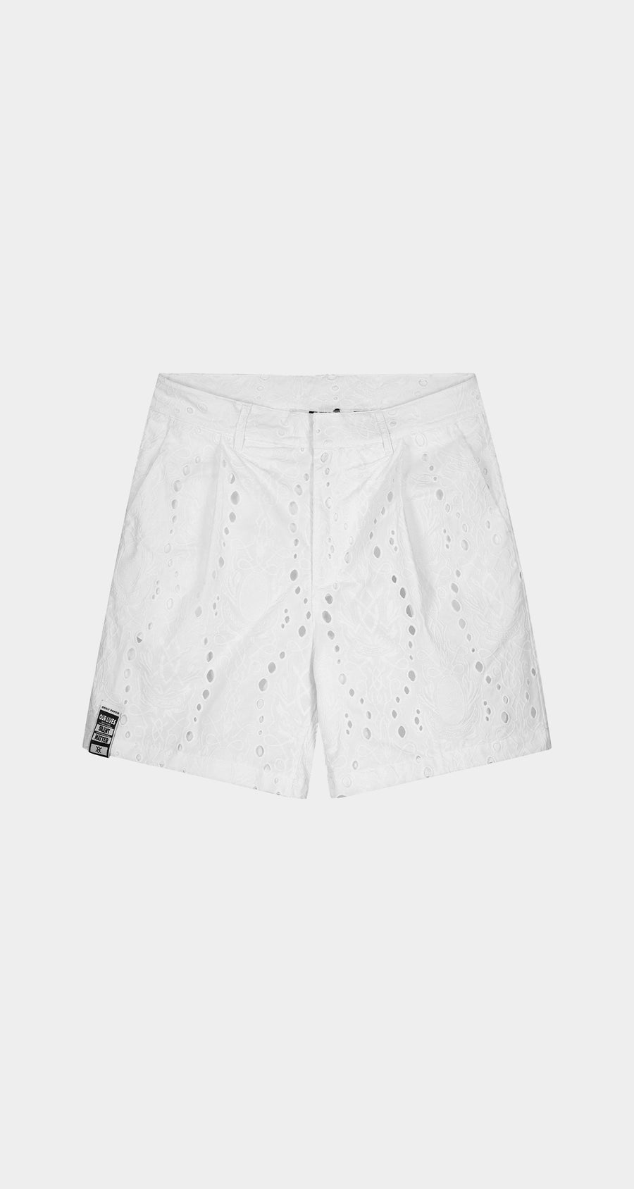 Daily Paper - White Klevon Lace Shorts - Men Front