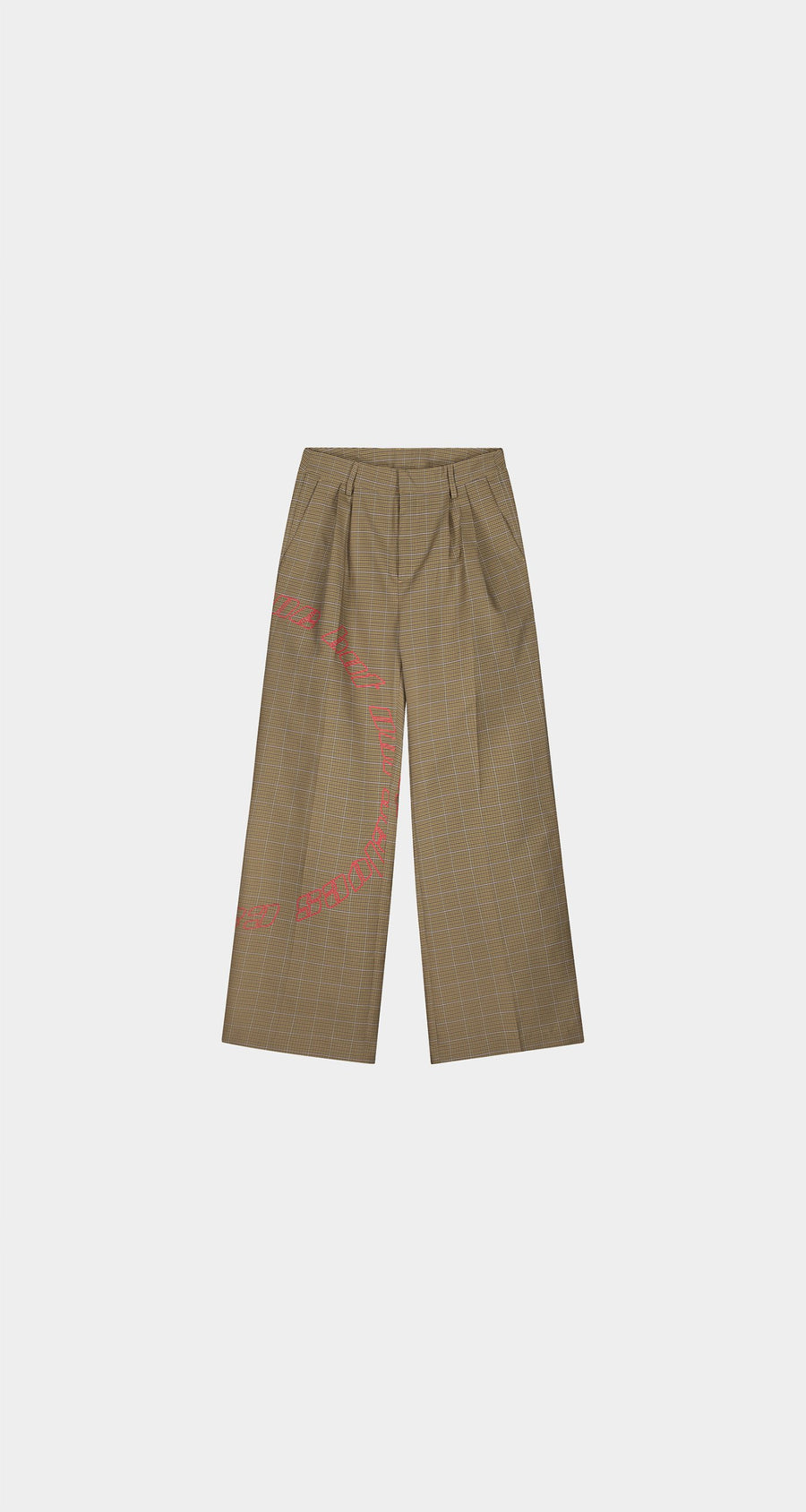 Daily Paper - Sand Checked Keanu Pants - Men Front