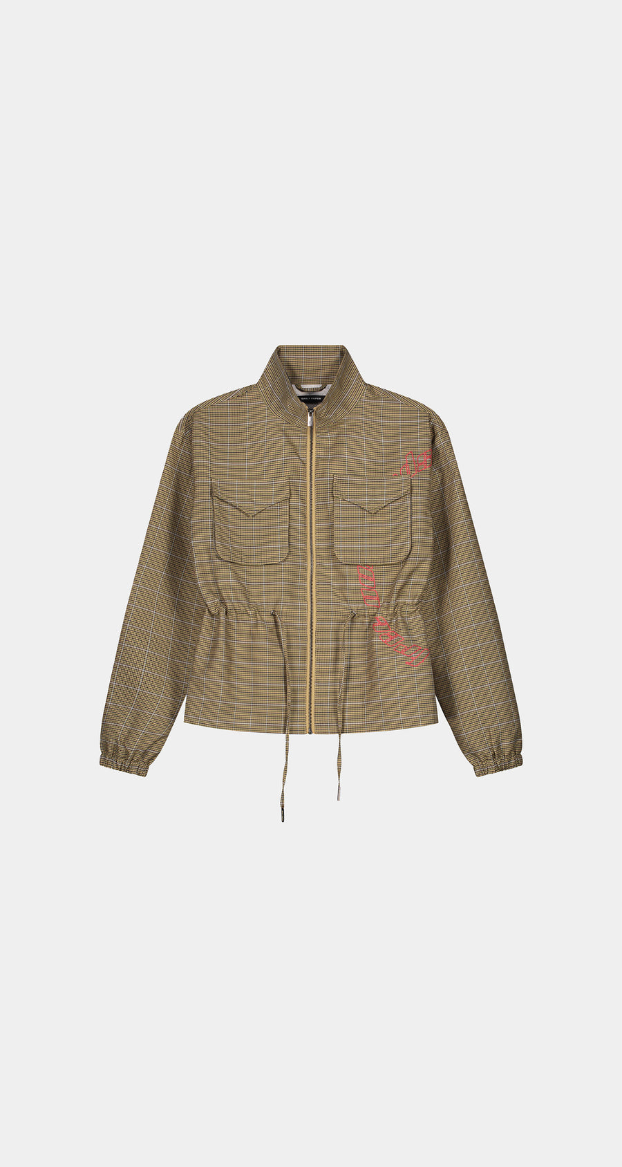 Daily Paper - Sand Checked Kano Jacket - Women Front