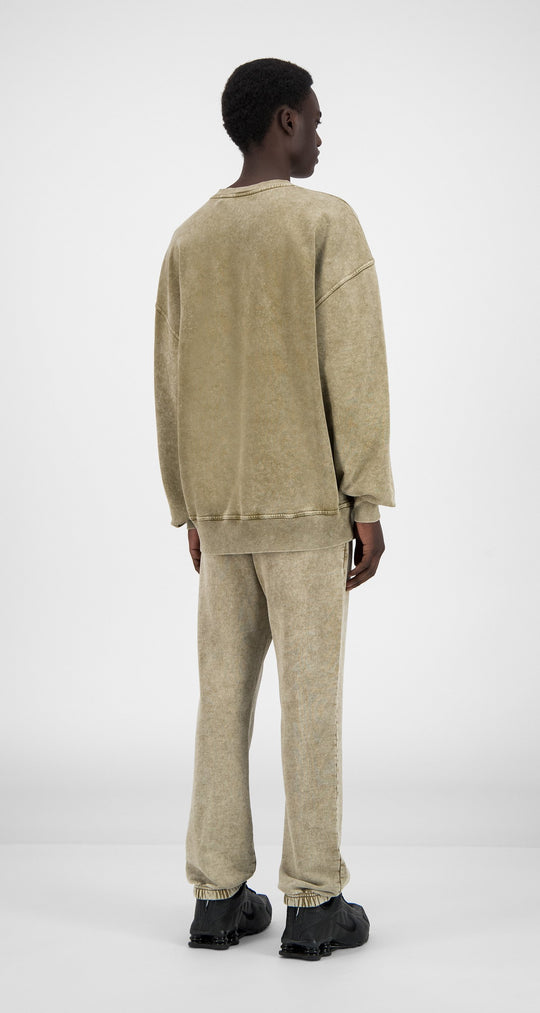 Daily Paper - Washed Sand Heracid Sweater - Men Rear