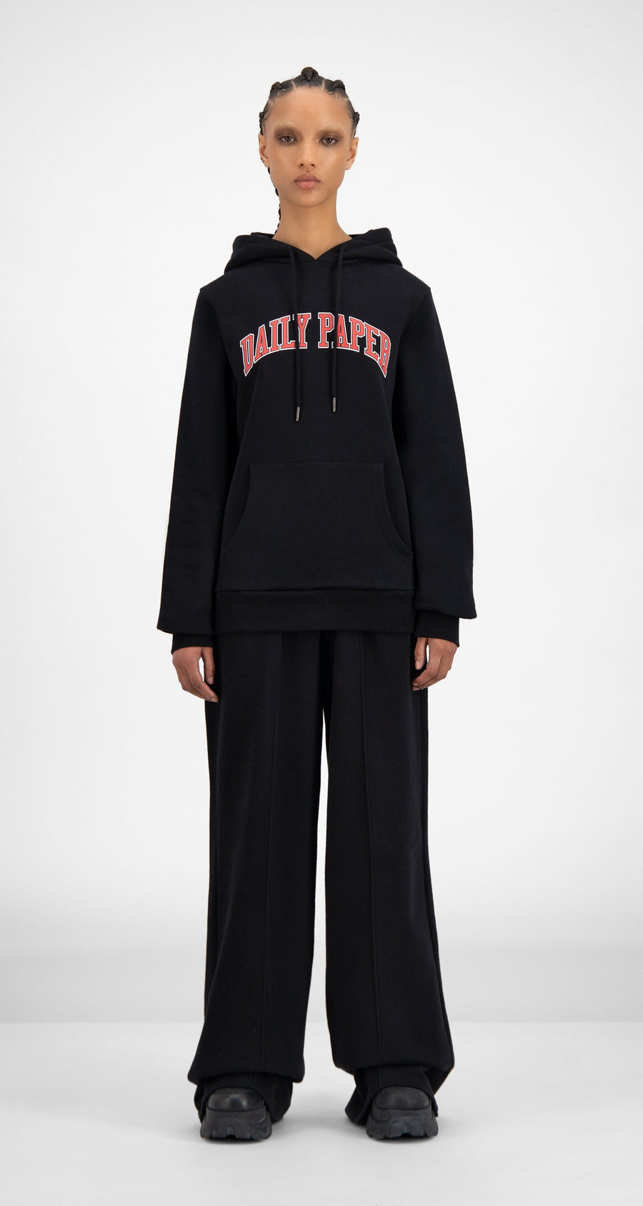 Daily Paper - SOH Black College Hoody - Women Front