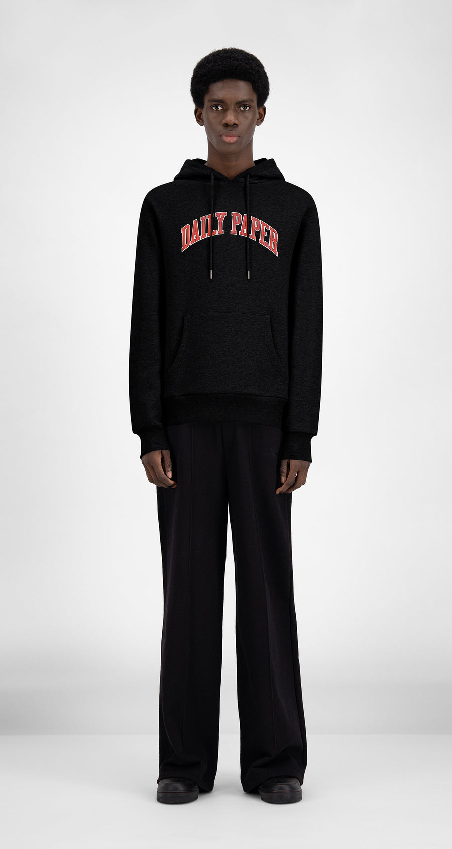 Daily Paper - SOH Black College Hoody - Men Front