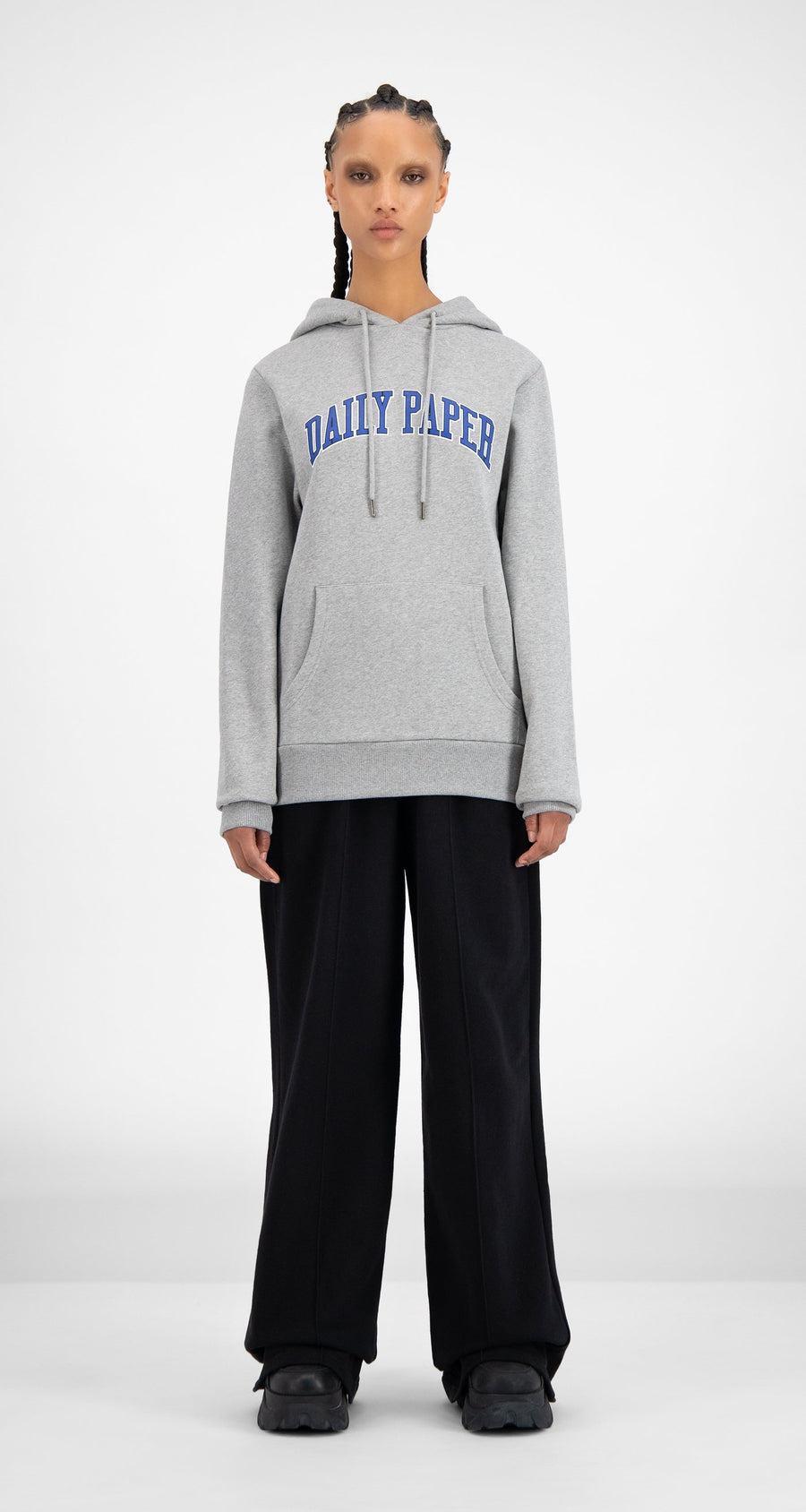Daily Paper - SOH Grey Melange College Hoodie - Women Front