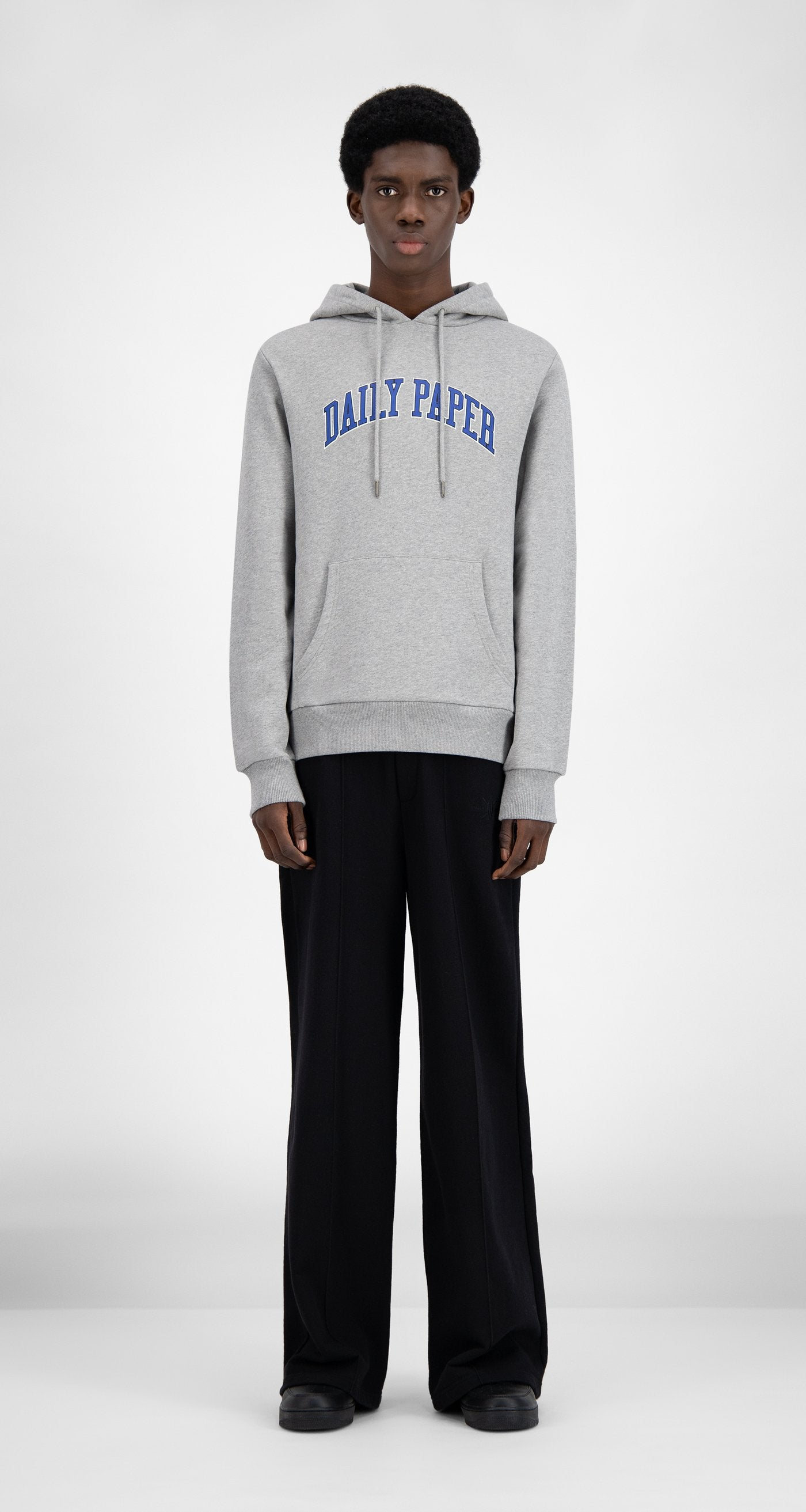 Daily Paper - SOH Grey Melange College Hoodie - Men Front