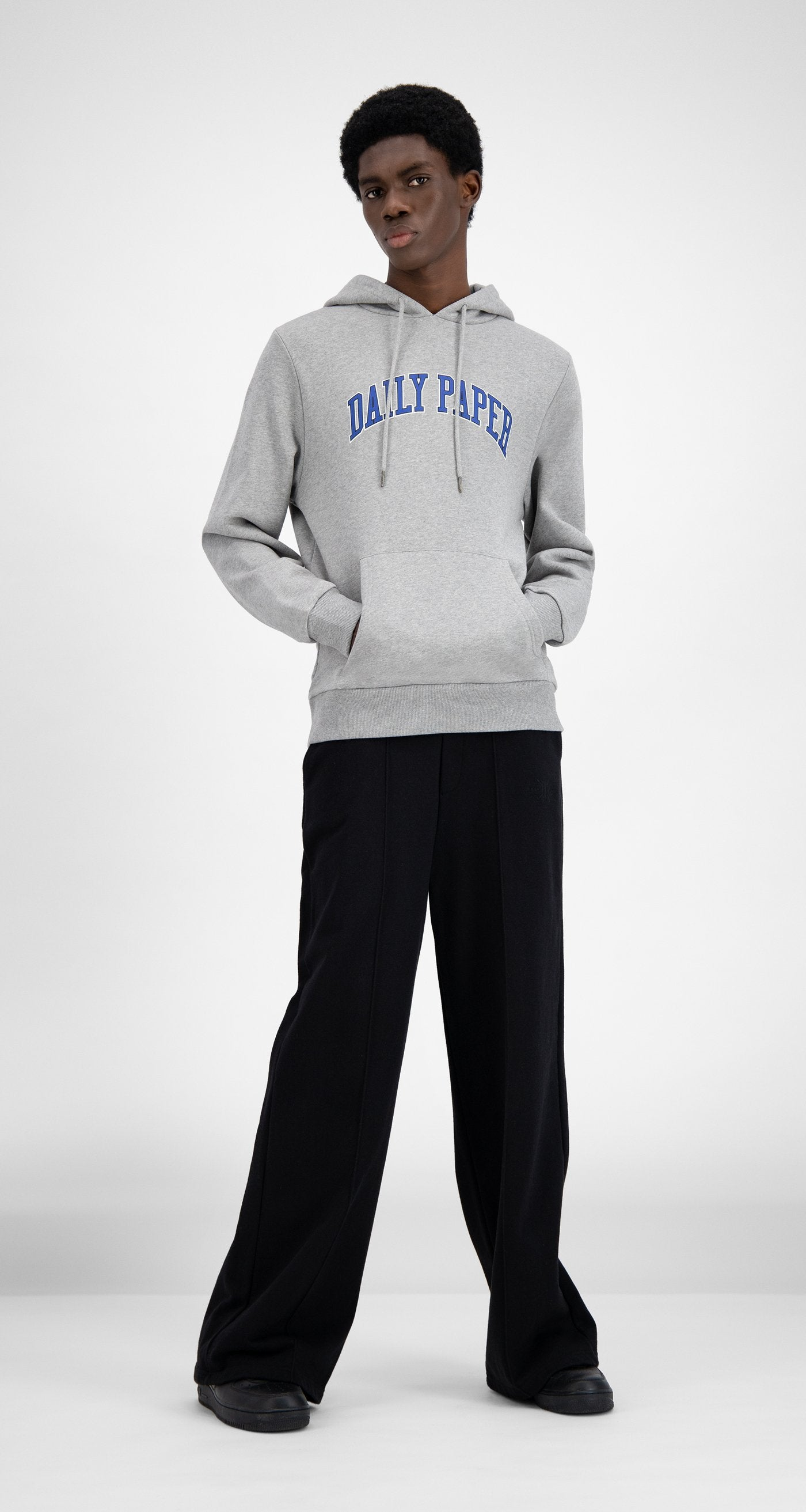 Daily Paper - SOH Grey Melange College Hoodie - Men