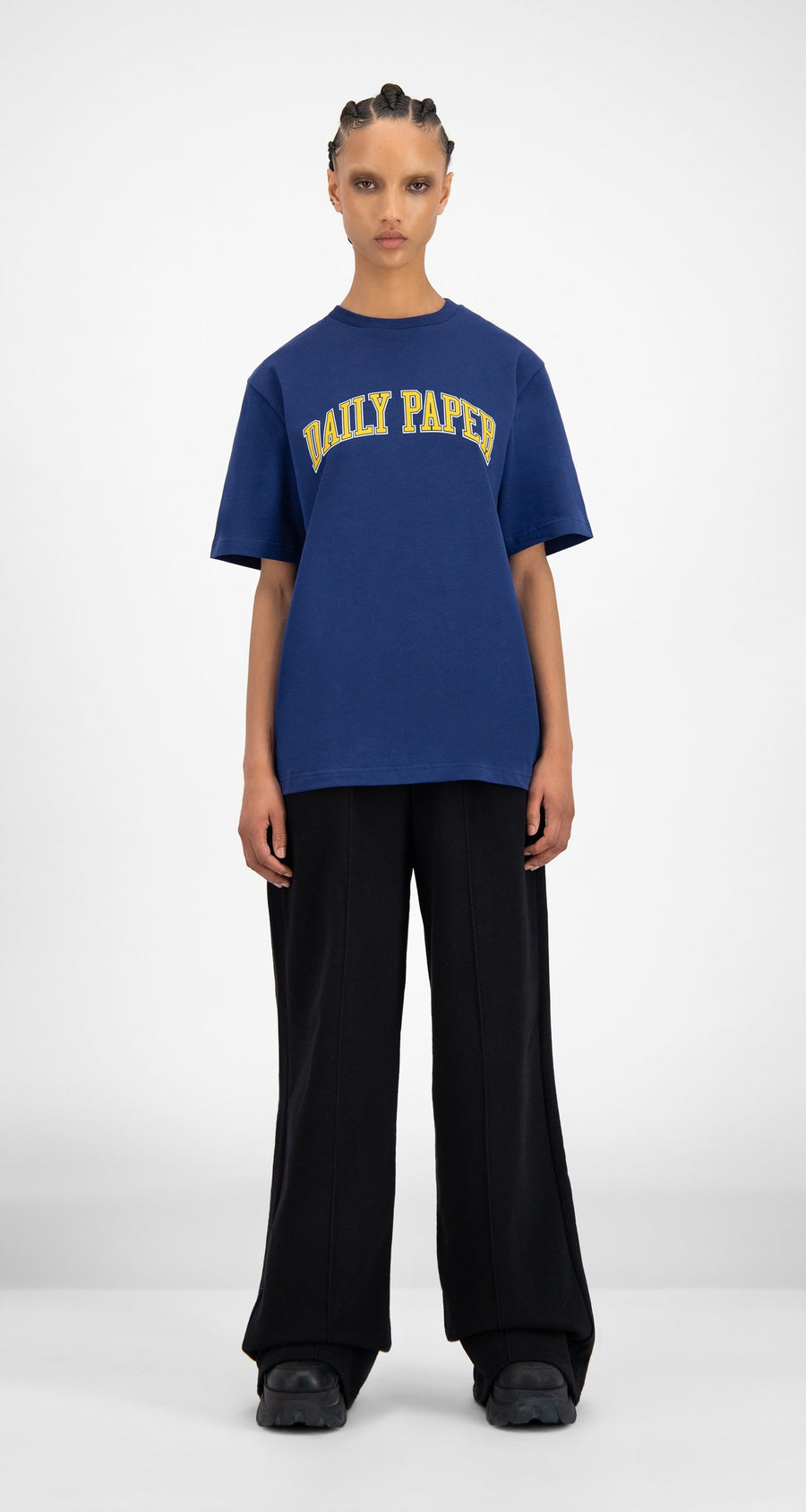 Daily Paper - SOH Navy T-Shirt - Women Front