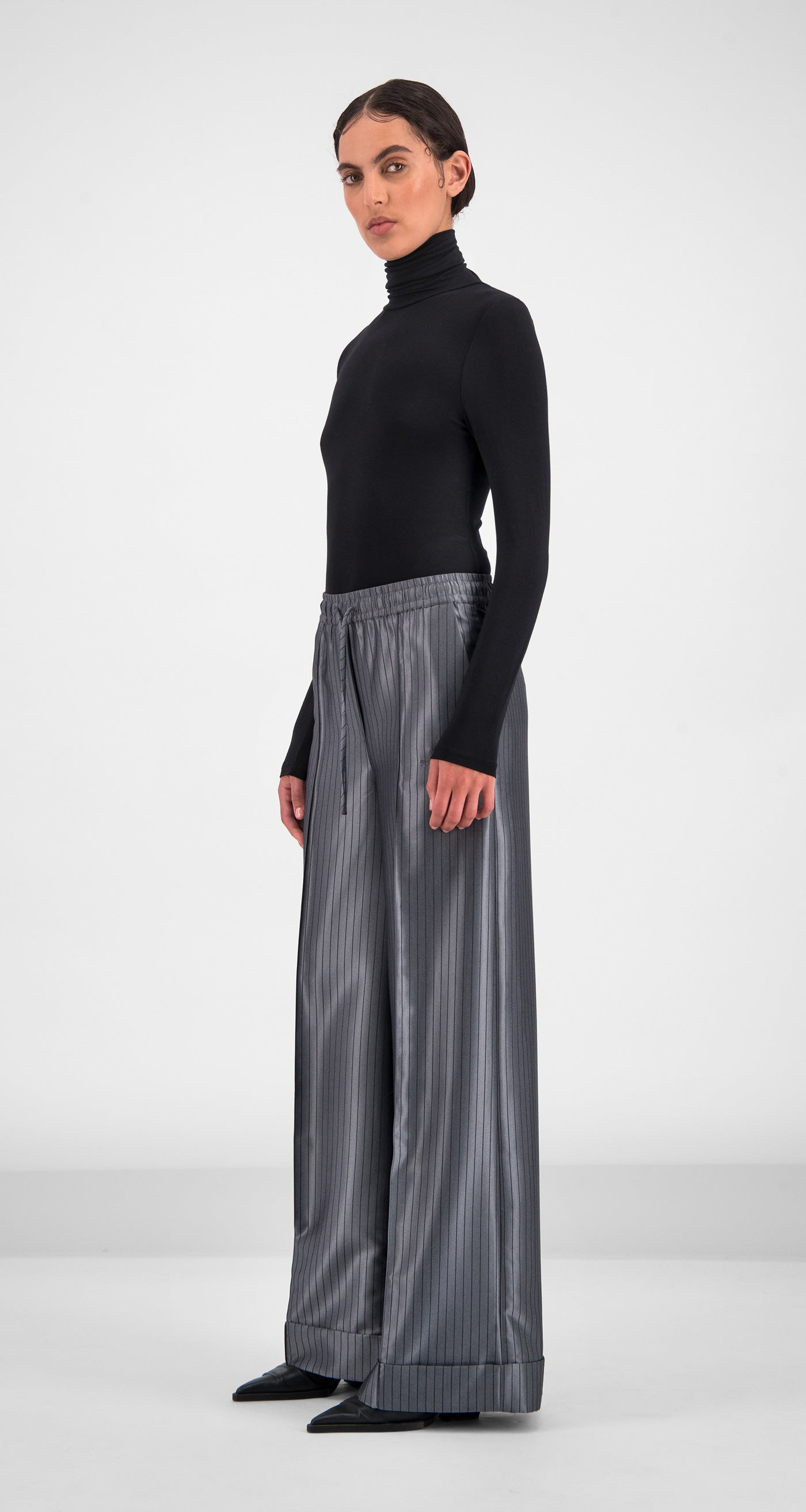 Daily Paper - Grey Stripe Gina Pants Women