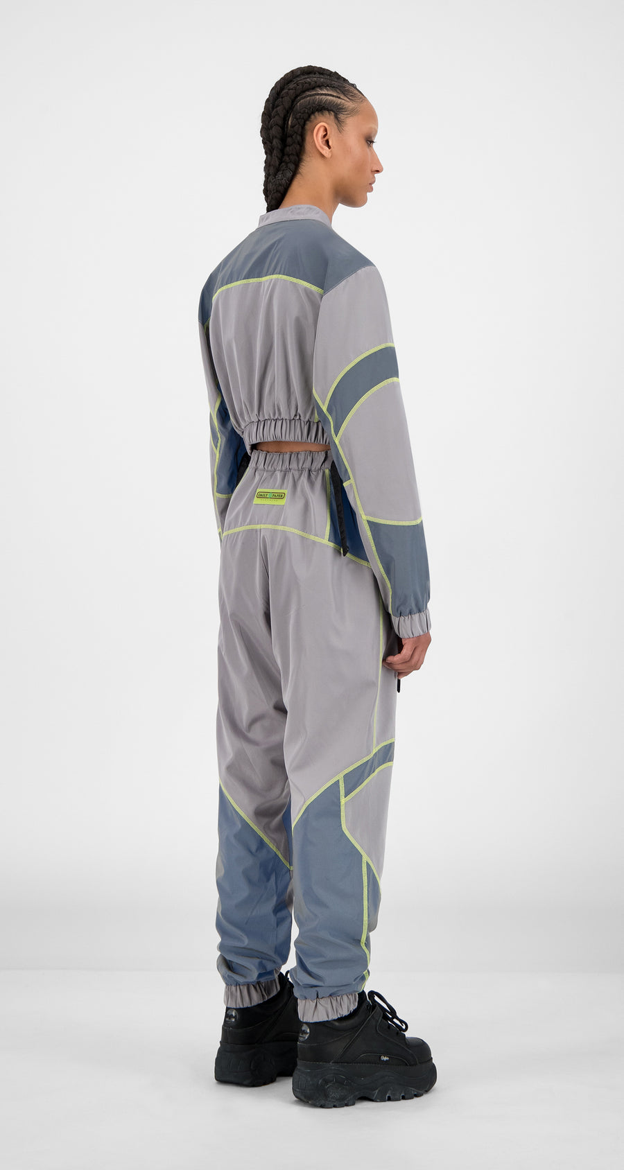 Daily Paper - Grey Reflective Hilma Jacket - Women Rear