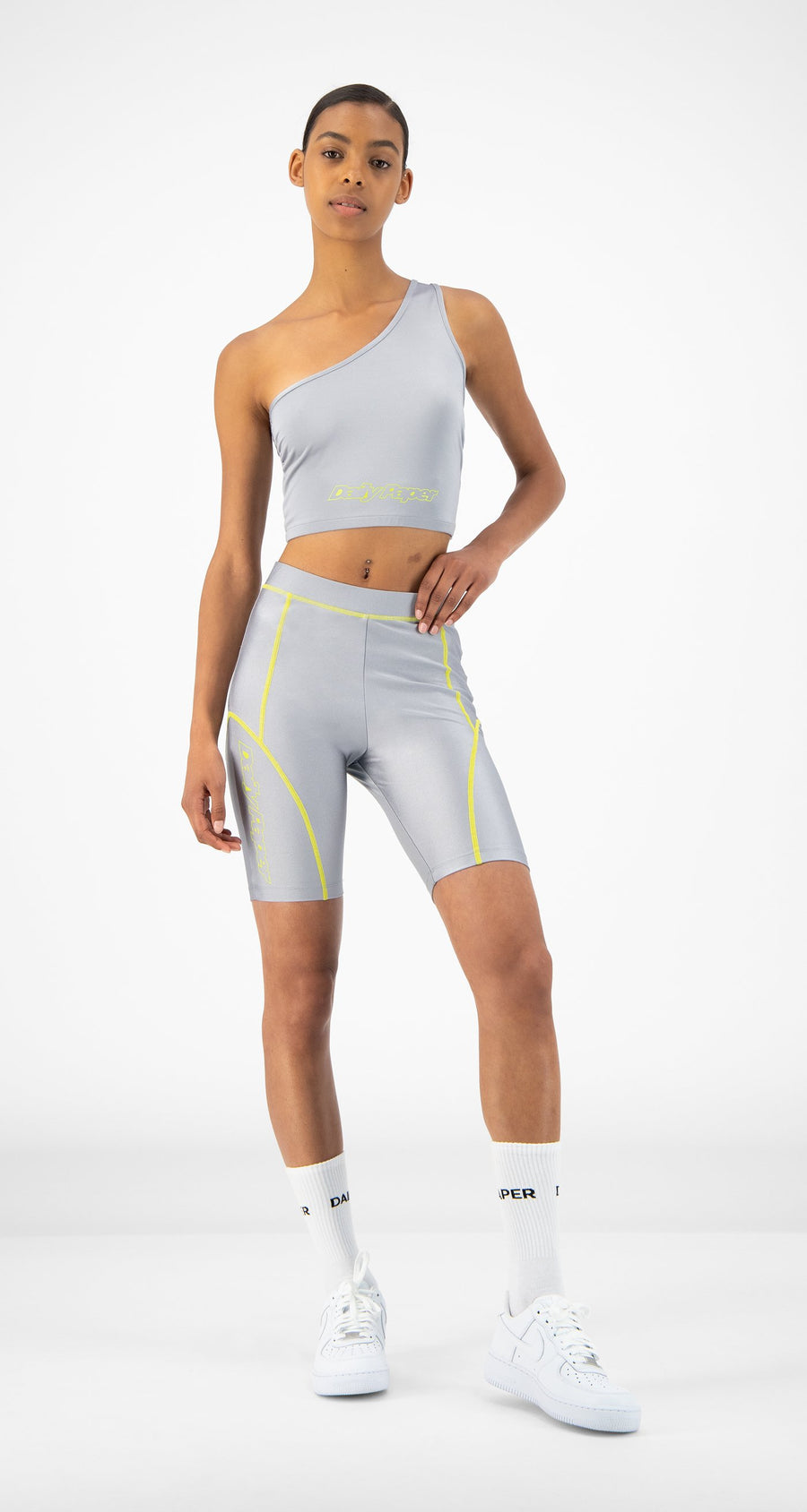 Daily Paper - Silver Rebike Shorts - Women Front