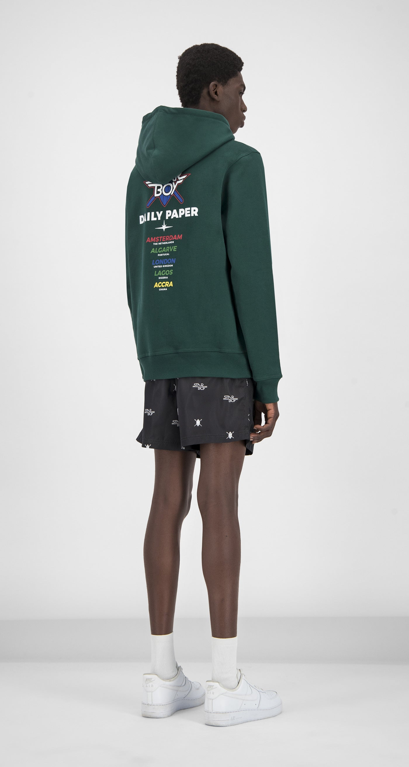 Daily Paper x STARBOY Green City Hoody - Men Rear