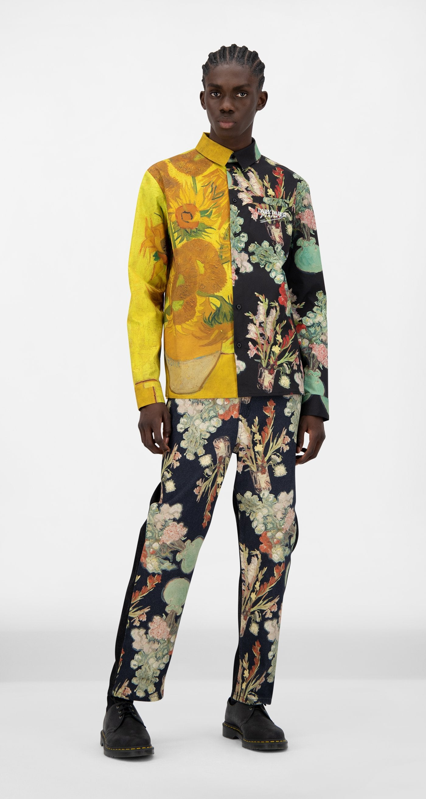 Daily Paper x Van Gogh Museum - Sunflower Van Jisi Shirt - Men