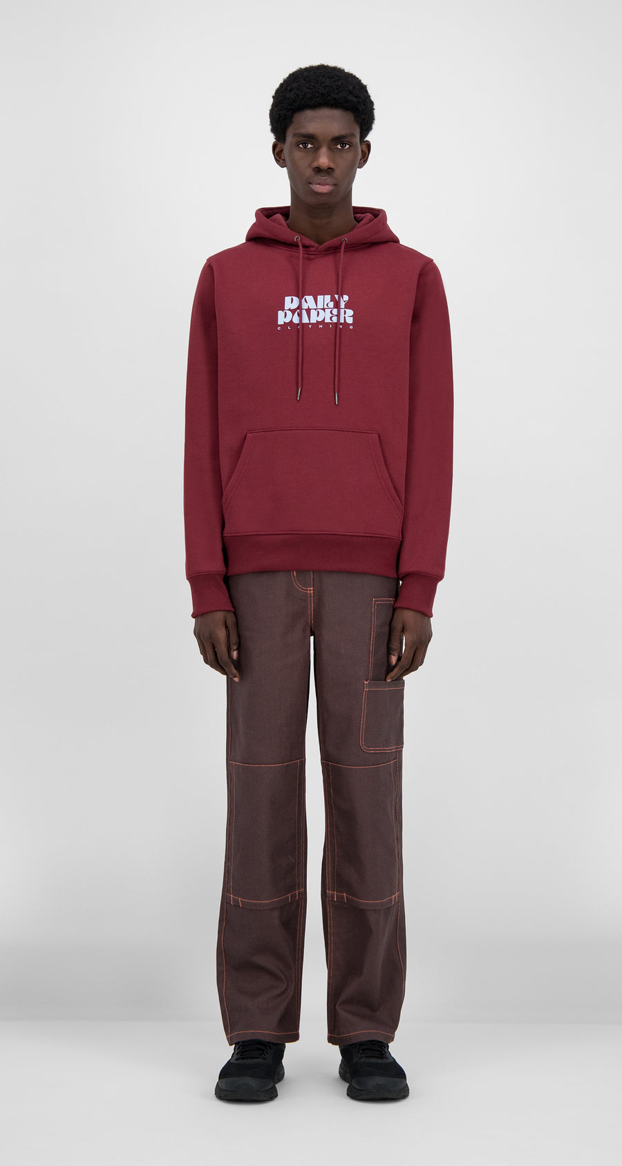 Daily Paper - Syrah Red Hasy Hoody - Men Front