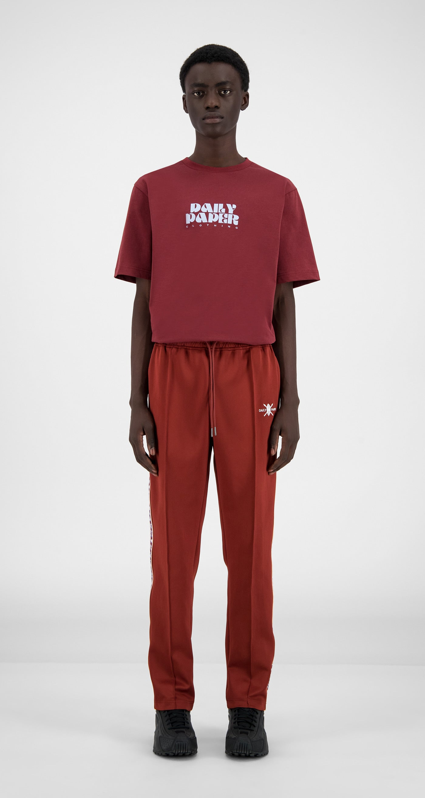 Daily Paper - Syrah Red Liba Pants - Men Front