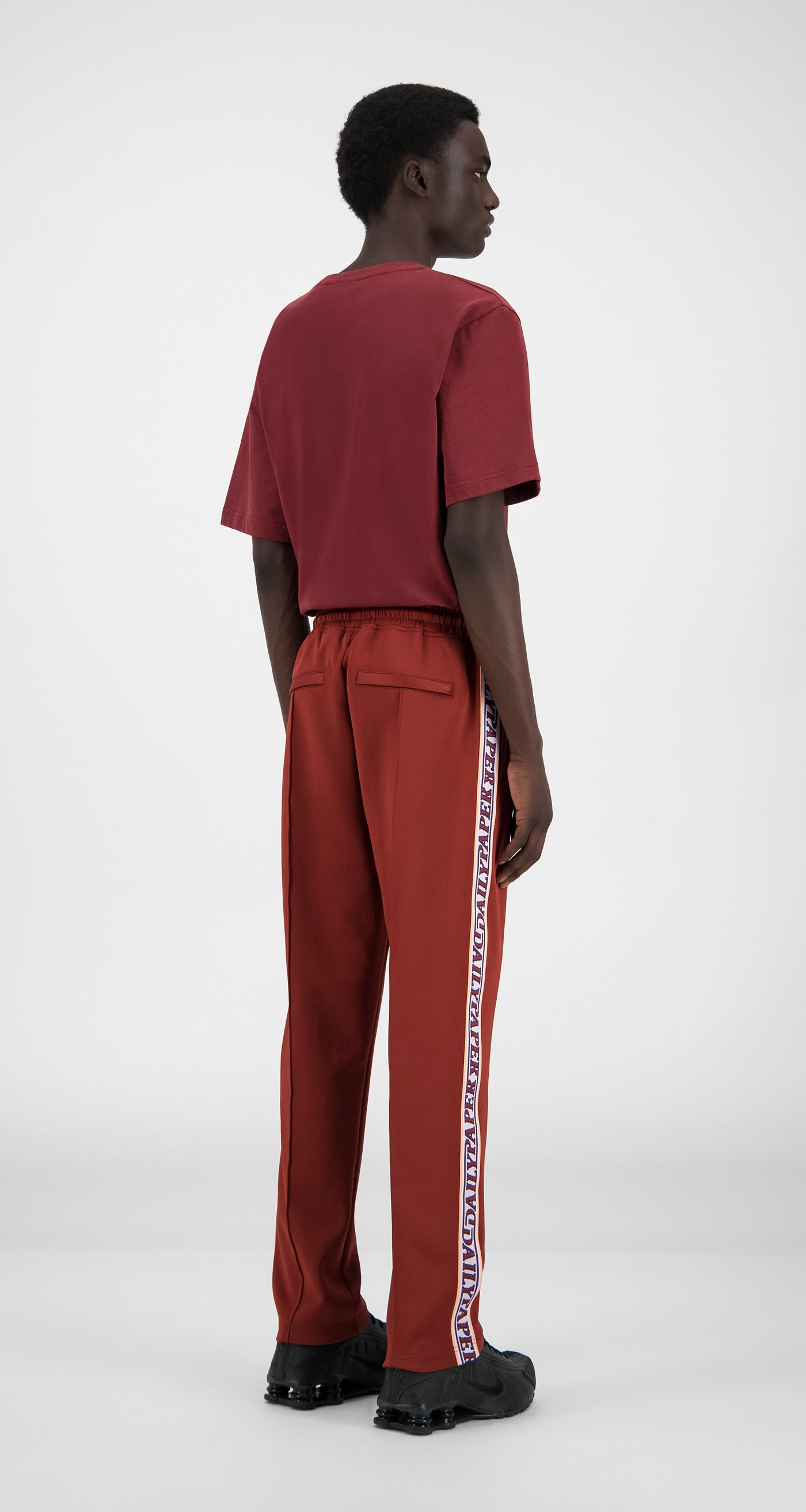 Daily Paper - Syrah Red Liba Pants - Men Rear