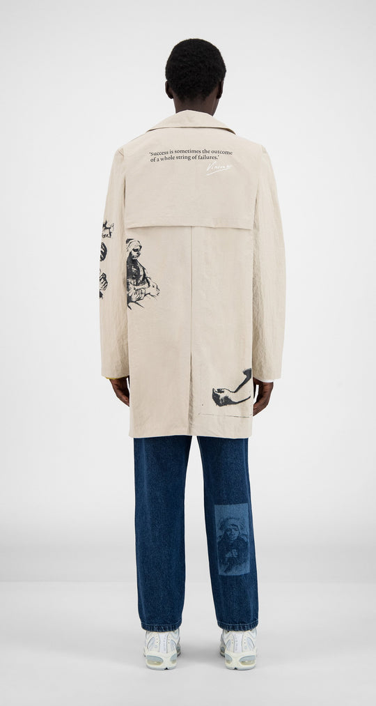 Daily Paper x Van Gogh Museum - Light Brown Van Amack Coat - Men Rear