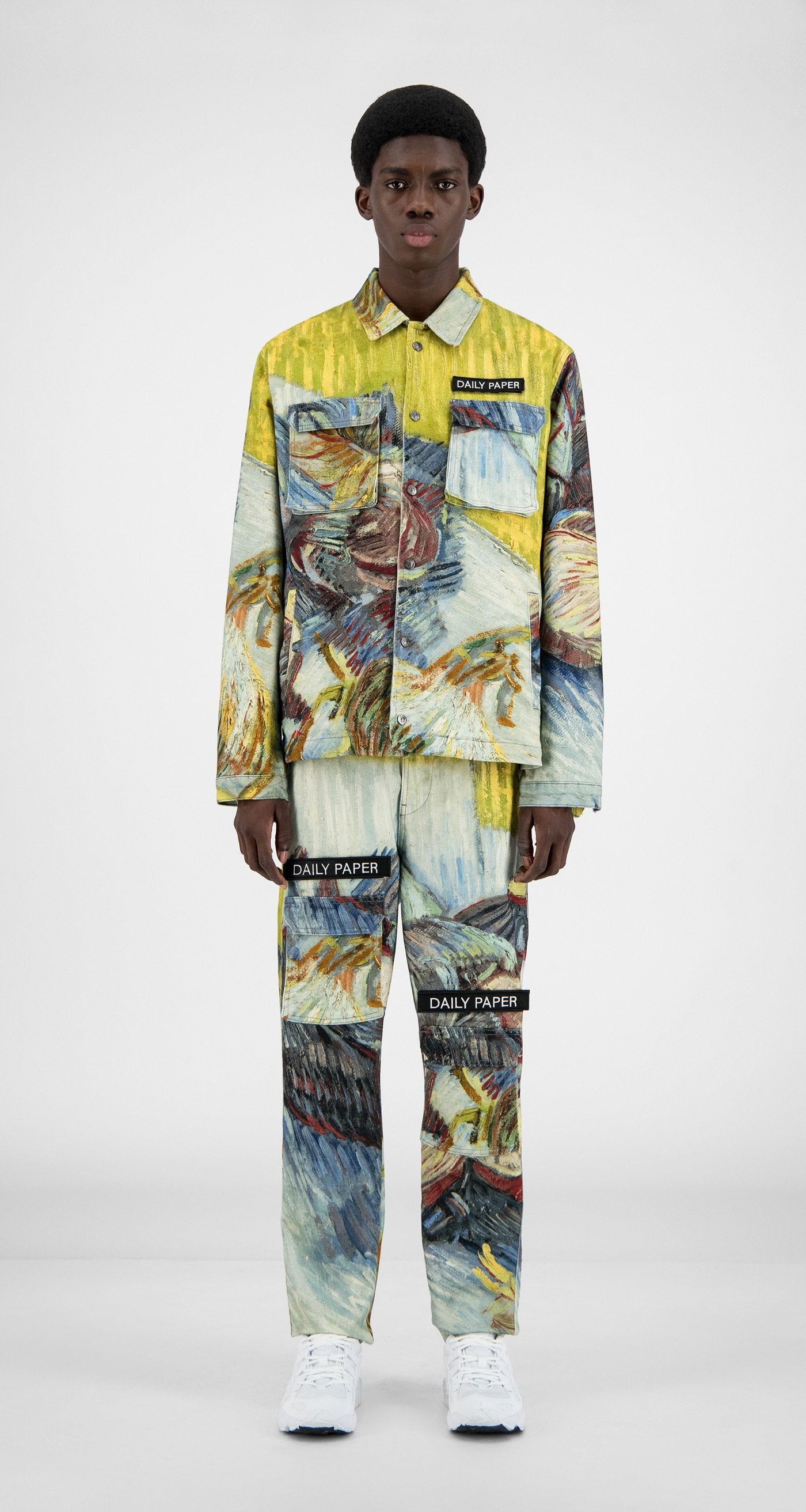 Daily Paper x Van Gogh Museum - Blue Cabbages Van Cargo Coach Jacket - Men Front