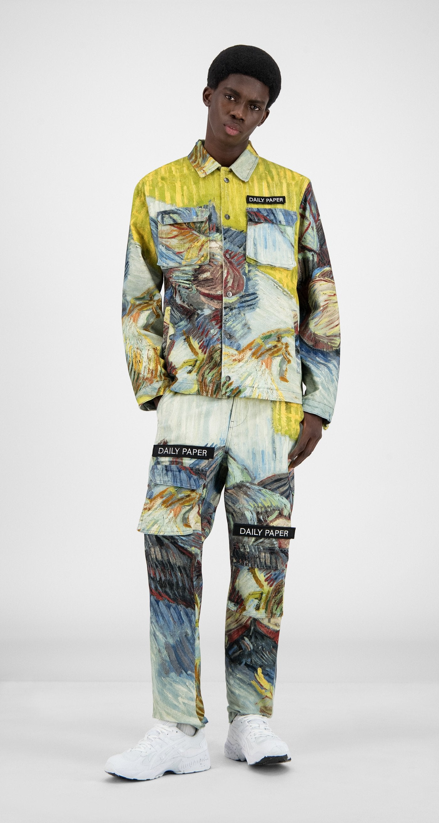 Daily Paper x Van Gogh Museum - Blue Cabbages Van Cargo Coach Jacket - Men