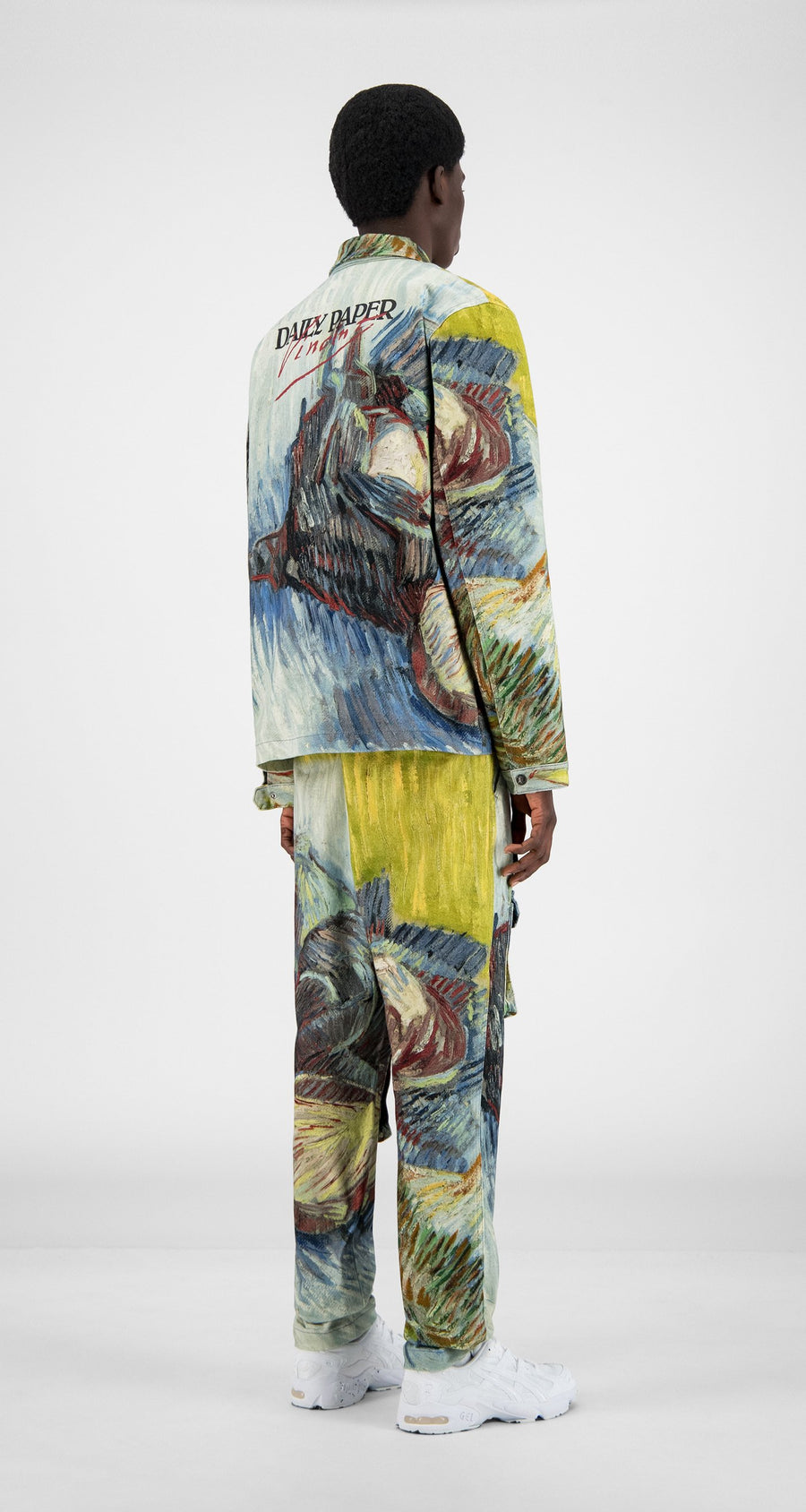 Daily Paper x Van Gogh Museum - Blue Cabbages Van Cargo Coach Jacket - Men Rear