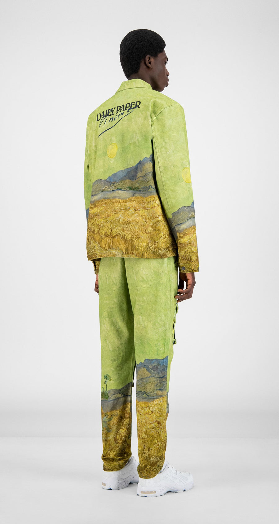 Daily Paper x Van Gogh Museum - Green Landscape Van Cargo Coach Jacket - Men Rear