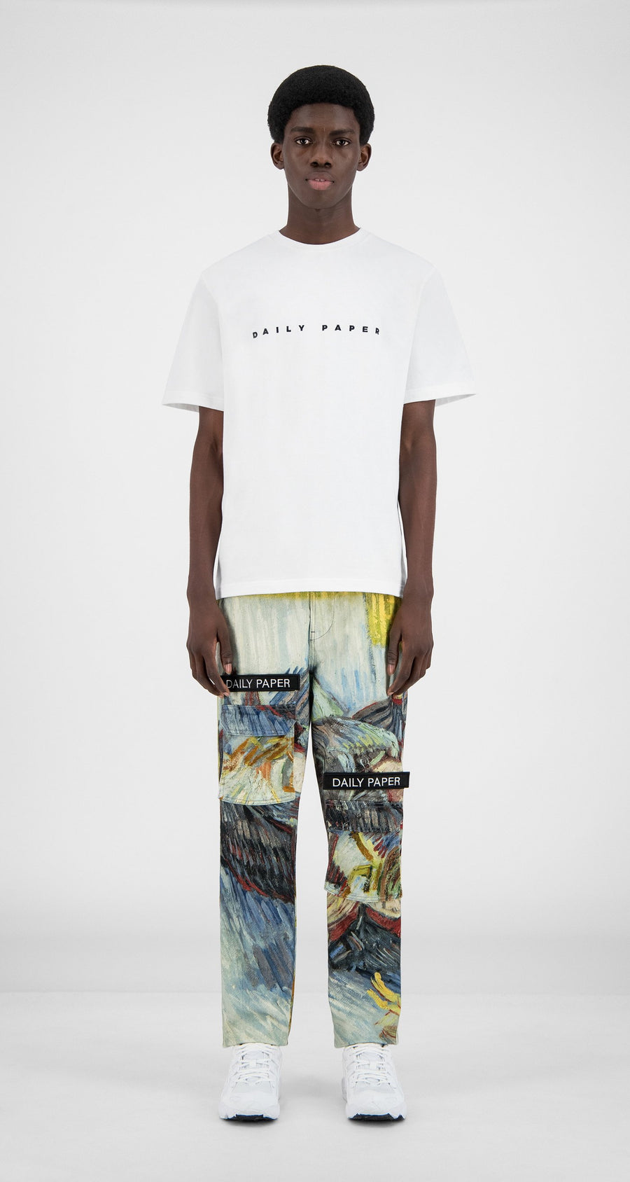 Daily Paper x Van Gogh Museum - Blue Cabbages Van Cargo Pants - Men Front