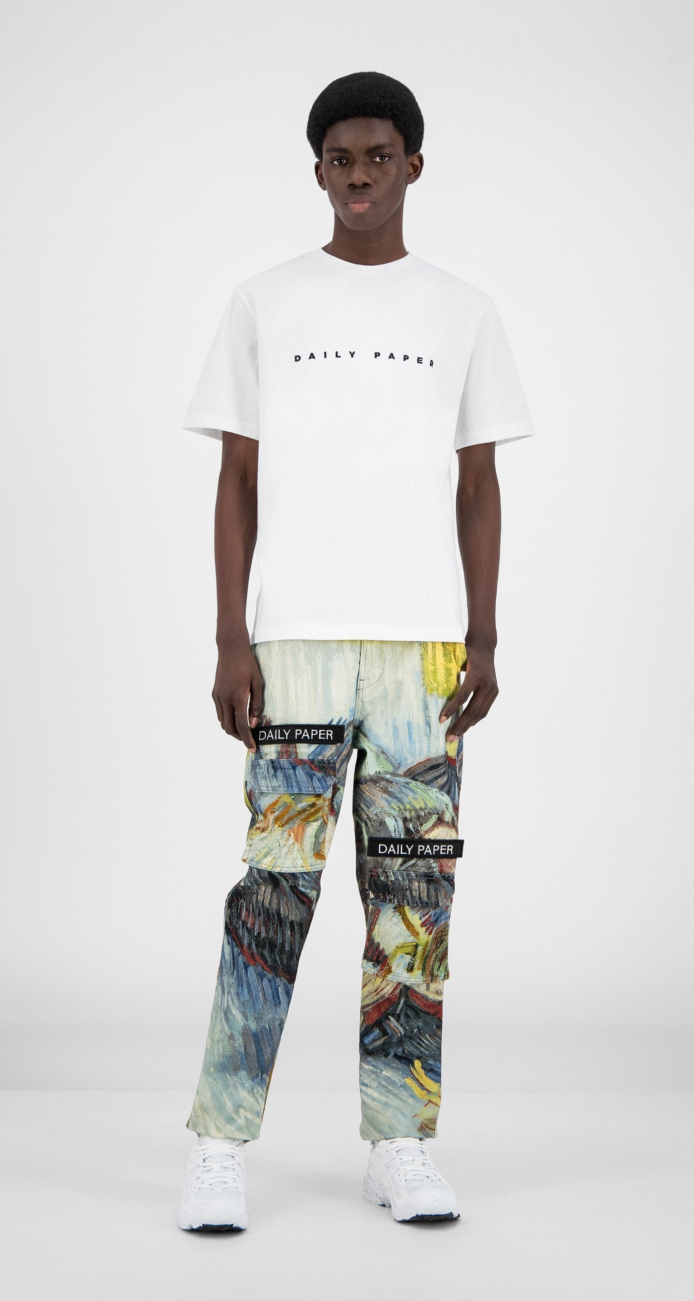 Daily Paper x Van Gogh Museum - Blue Cabbages Van Cargo Pants - Men