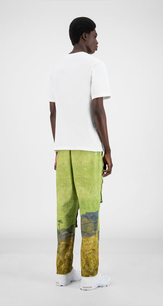 Daily Paper x Van Gogh Museum - Green Landscape Van Cargo Pants - Men Rear