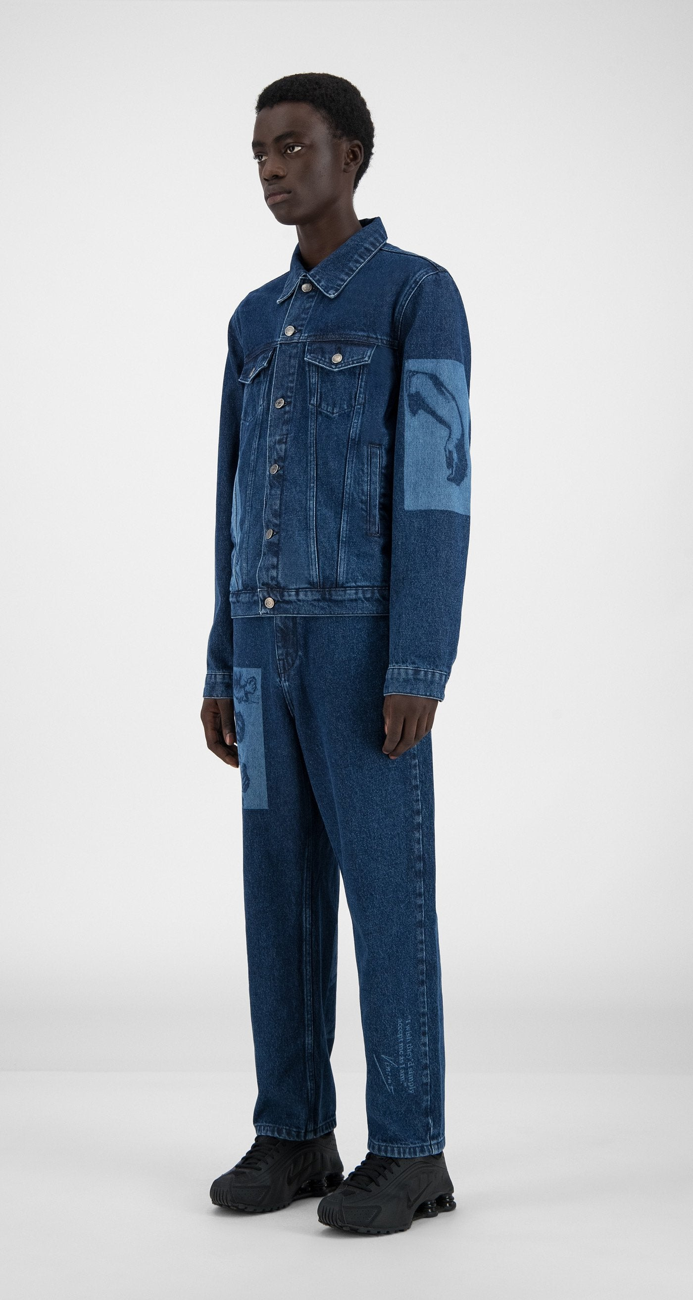 Daily Paper x Van Gogh Museum - Blue Denim Van Hajean Jacket - Men