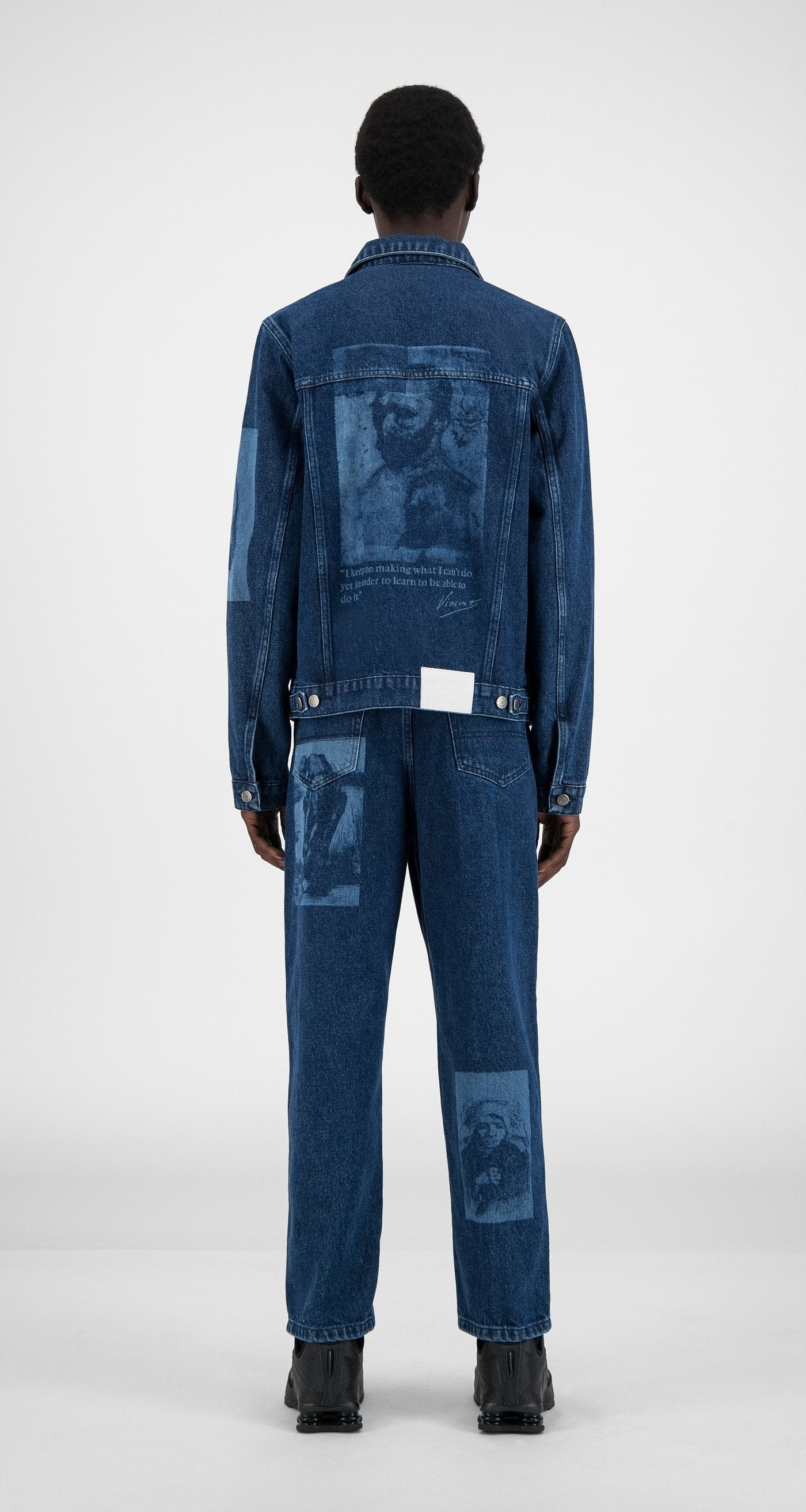 Daily Paper x Van Gogh Museum - Blue Denim Van Hajean Jacket - Men Rear