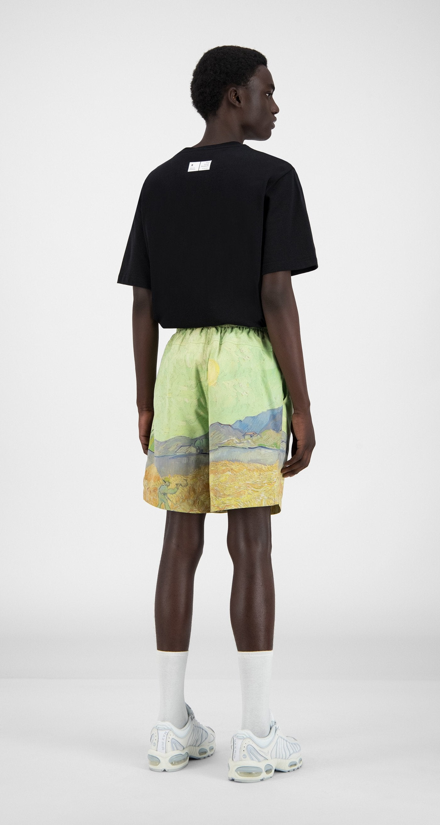 Daily Paper x Van Gogh Museum - Green Landscape Van Hali Shorts - Men Rear